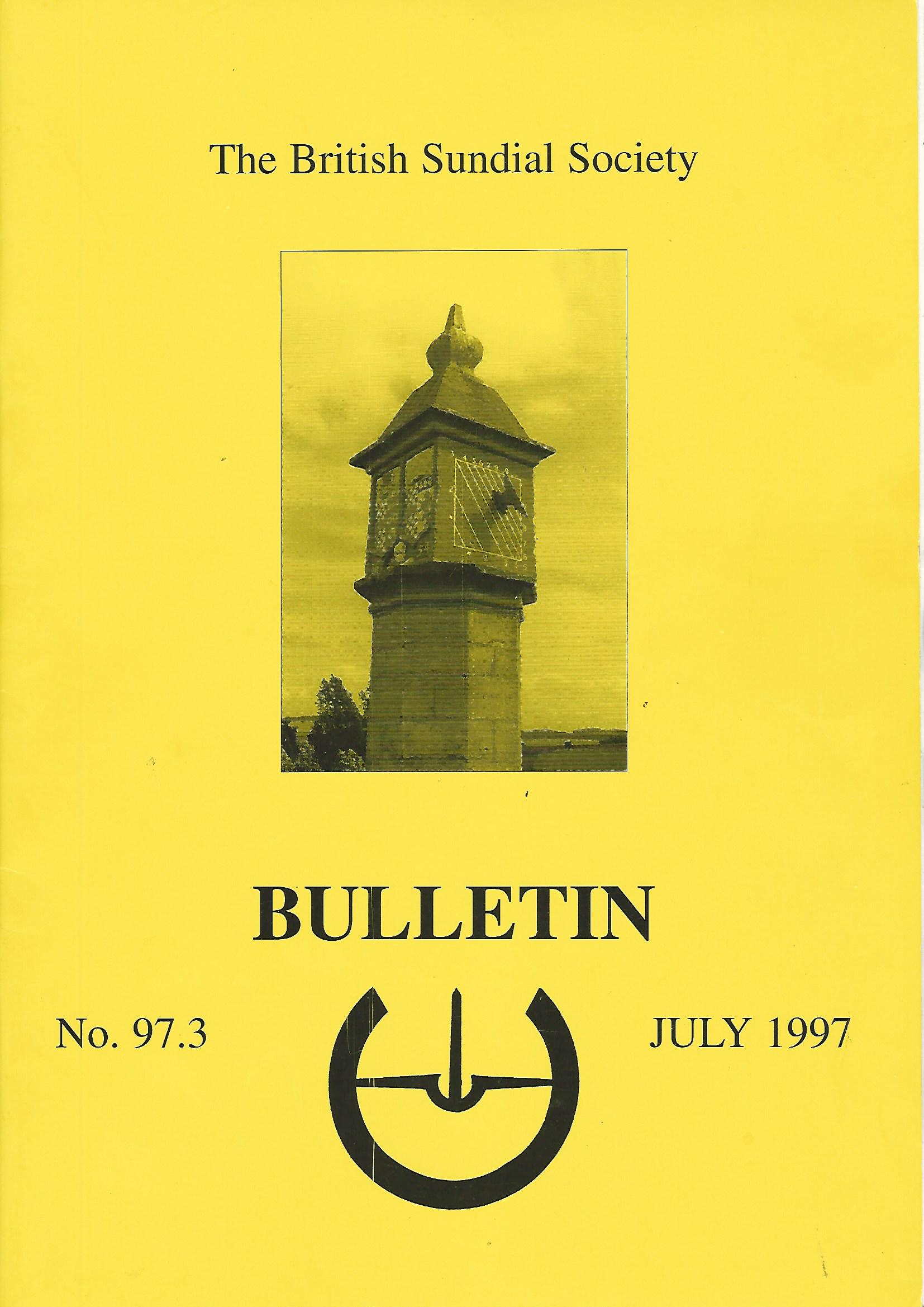 Image for The British Sundial Society Bulletin No. 97.3.
