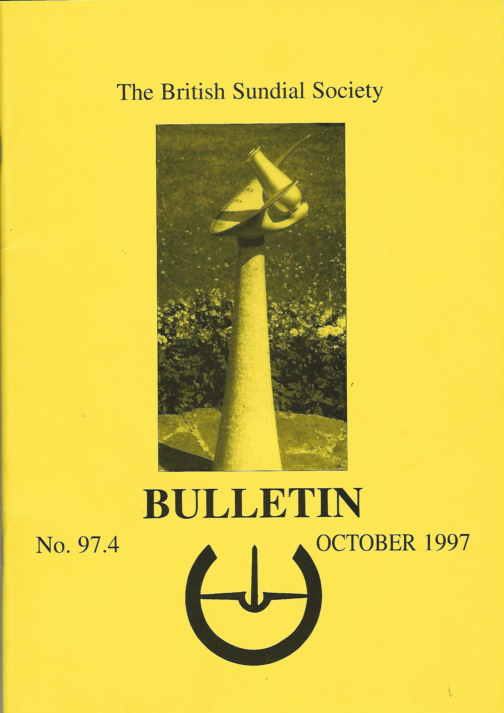 Image for The British Sundial Society Bulletin No.97.4.