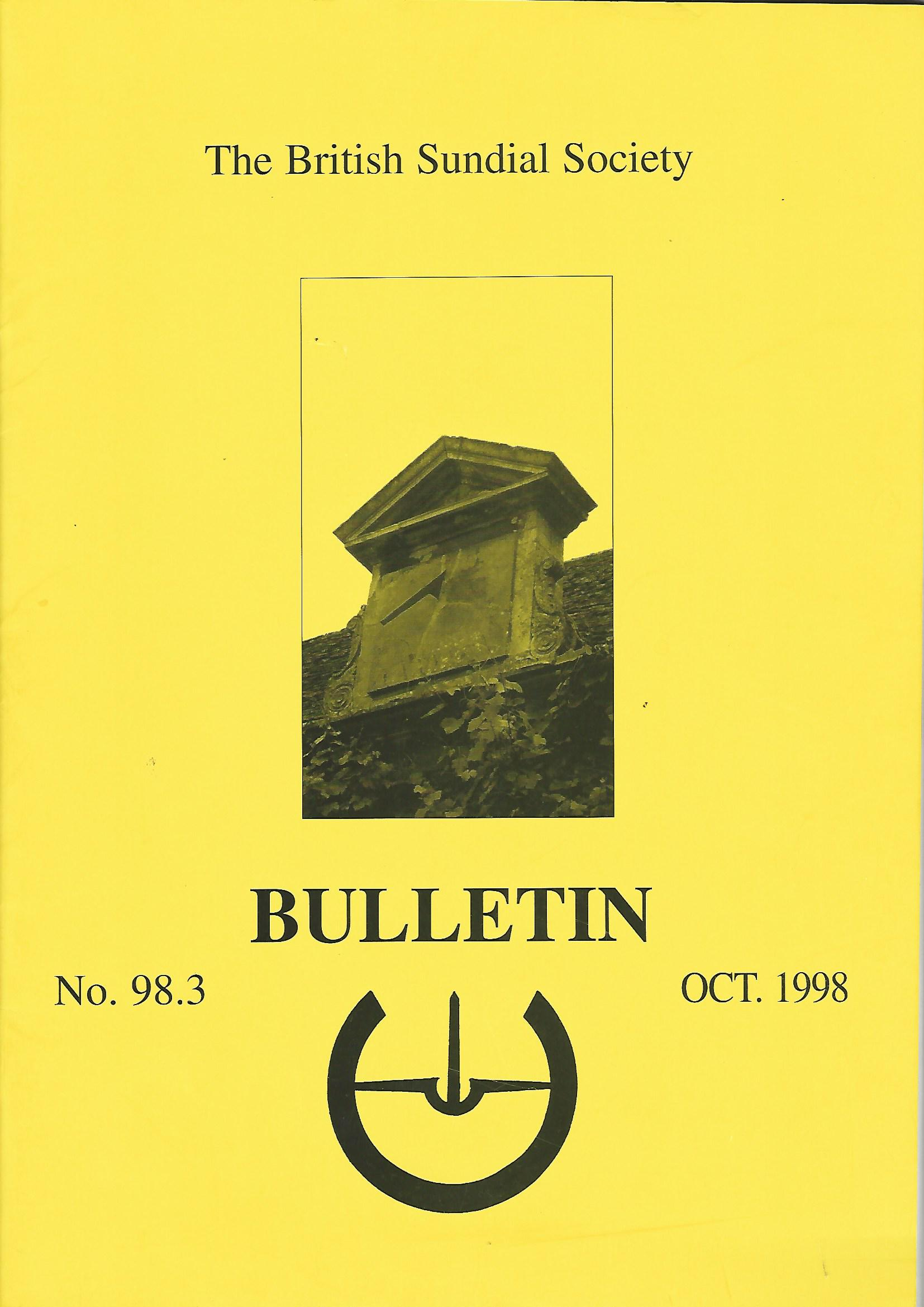 Image for The British Sundial Society Bulletin No.98.3.
