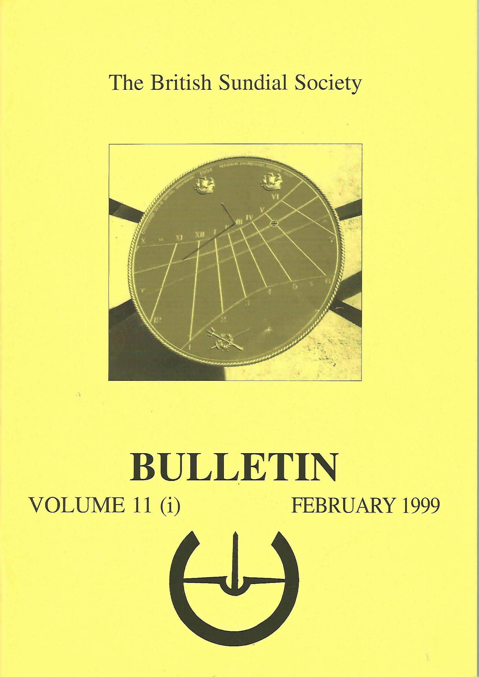 Image for The British Sundial Society Bulletin Volume 11 (i)