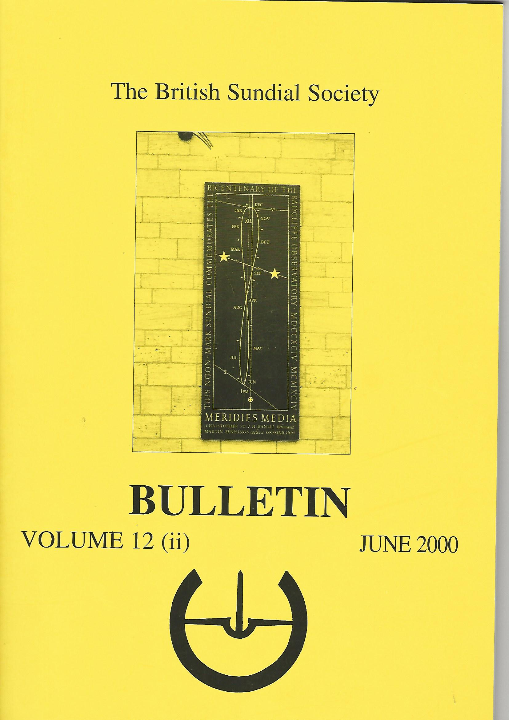 Image for The British Sundial Society Bulletin Volume 12 (ii)