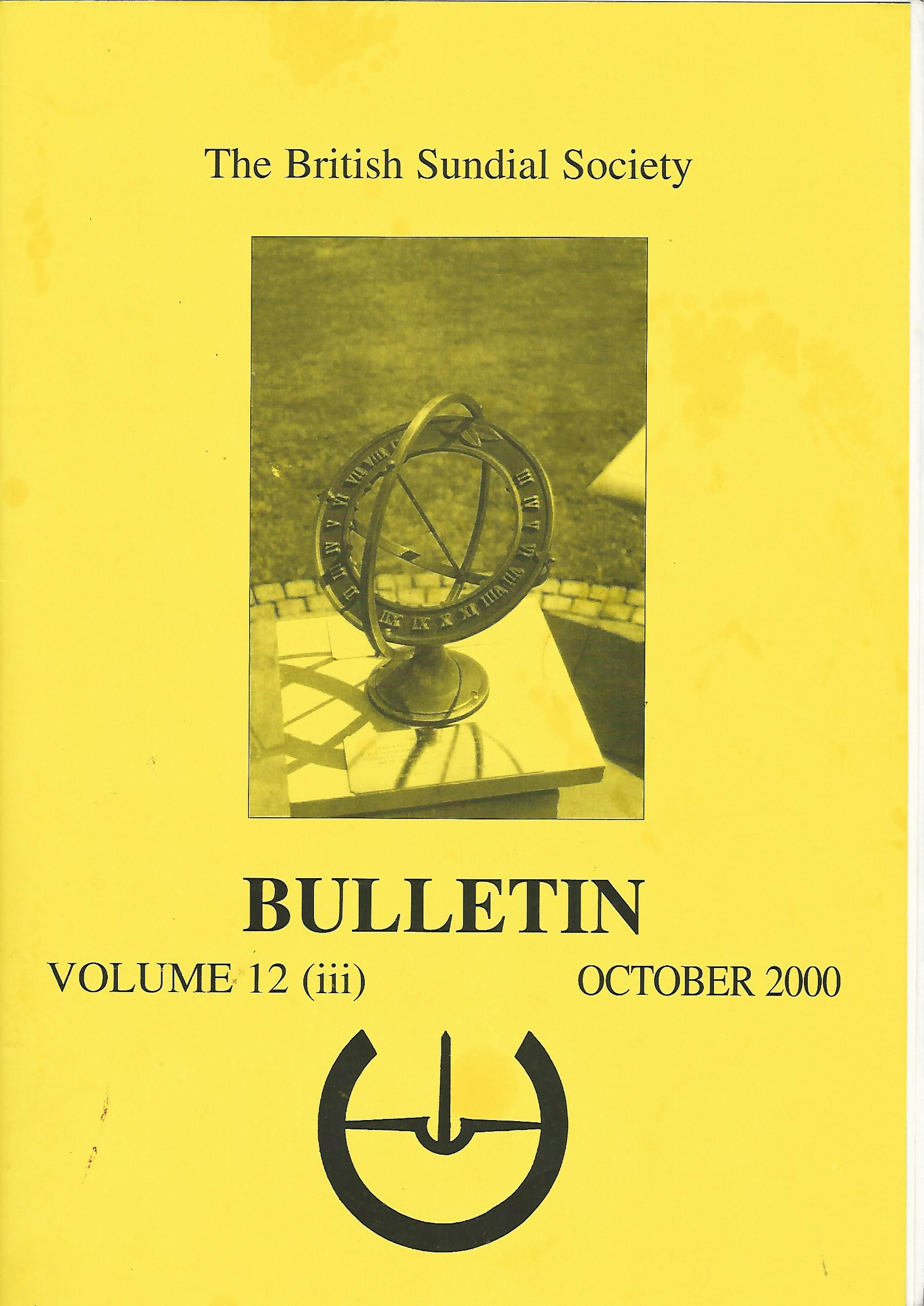 Image for The British Sundial Society Bulletin Volume 12 (iii)