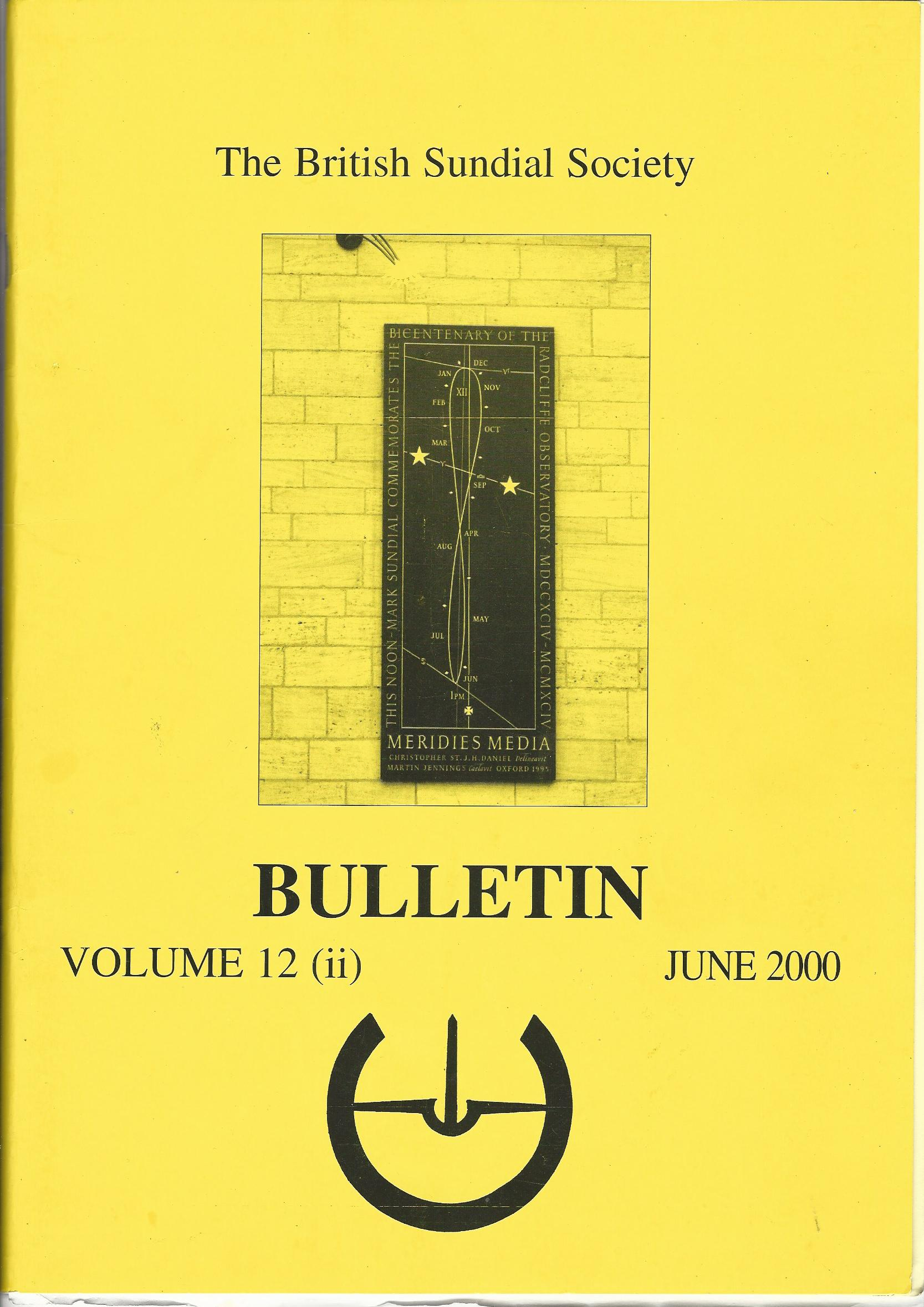 Image for The British Sundial Society Bulletin Volume 12 (iii) June 2000.