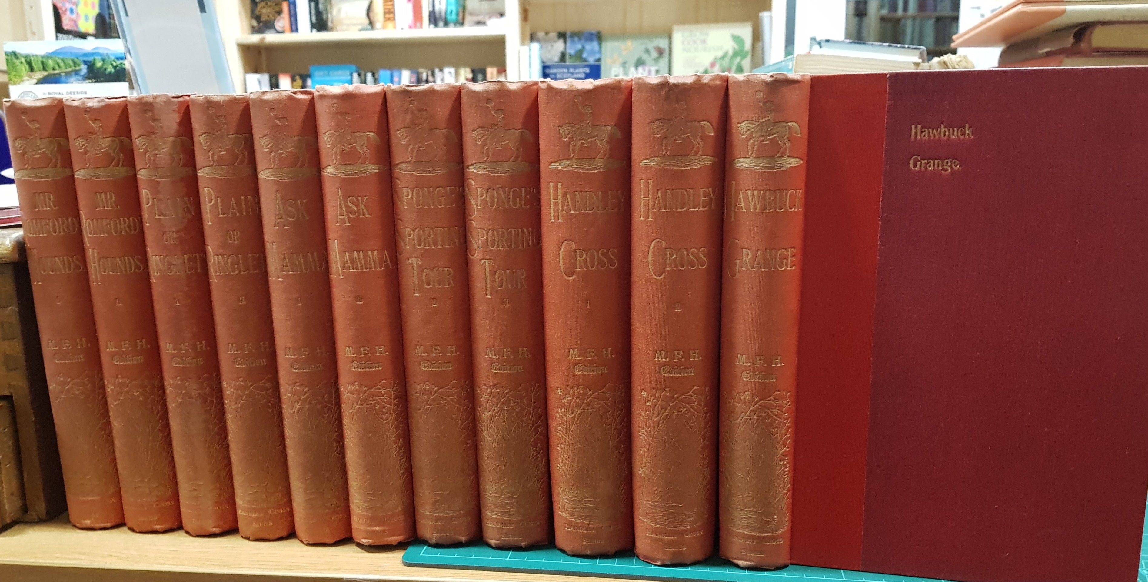 Image for The Sporting Novels M.F.H Edition, Mr. Romford's Hounds, Ask Mama, Plain or Ringlets?, Handley Cross, Mr. Sponges Sporting Tour & Hawbuck Grange, 6 Volumes Bound in 11 Complete.