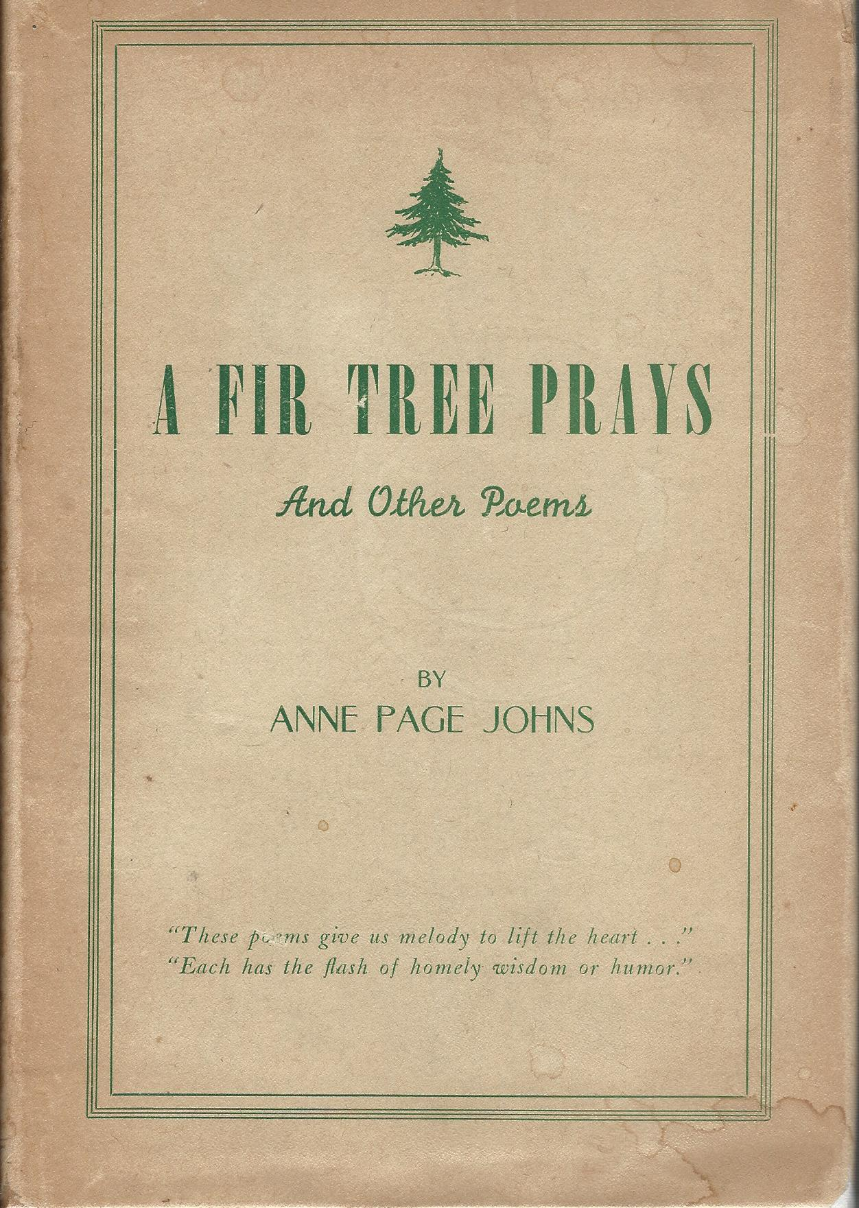 Image for A Fir Tree Prays and Other Poems.