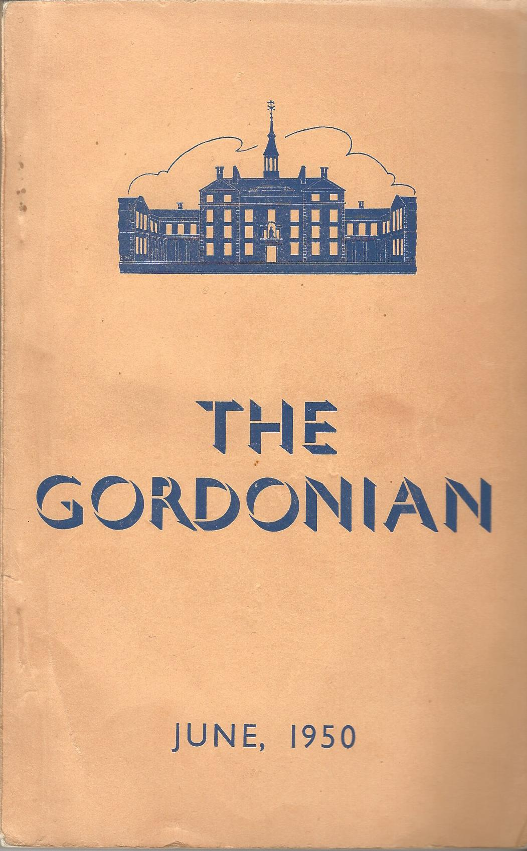 Image for The Gordonian Vol. 1, No.2 (New Series), June 1950.
