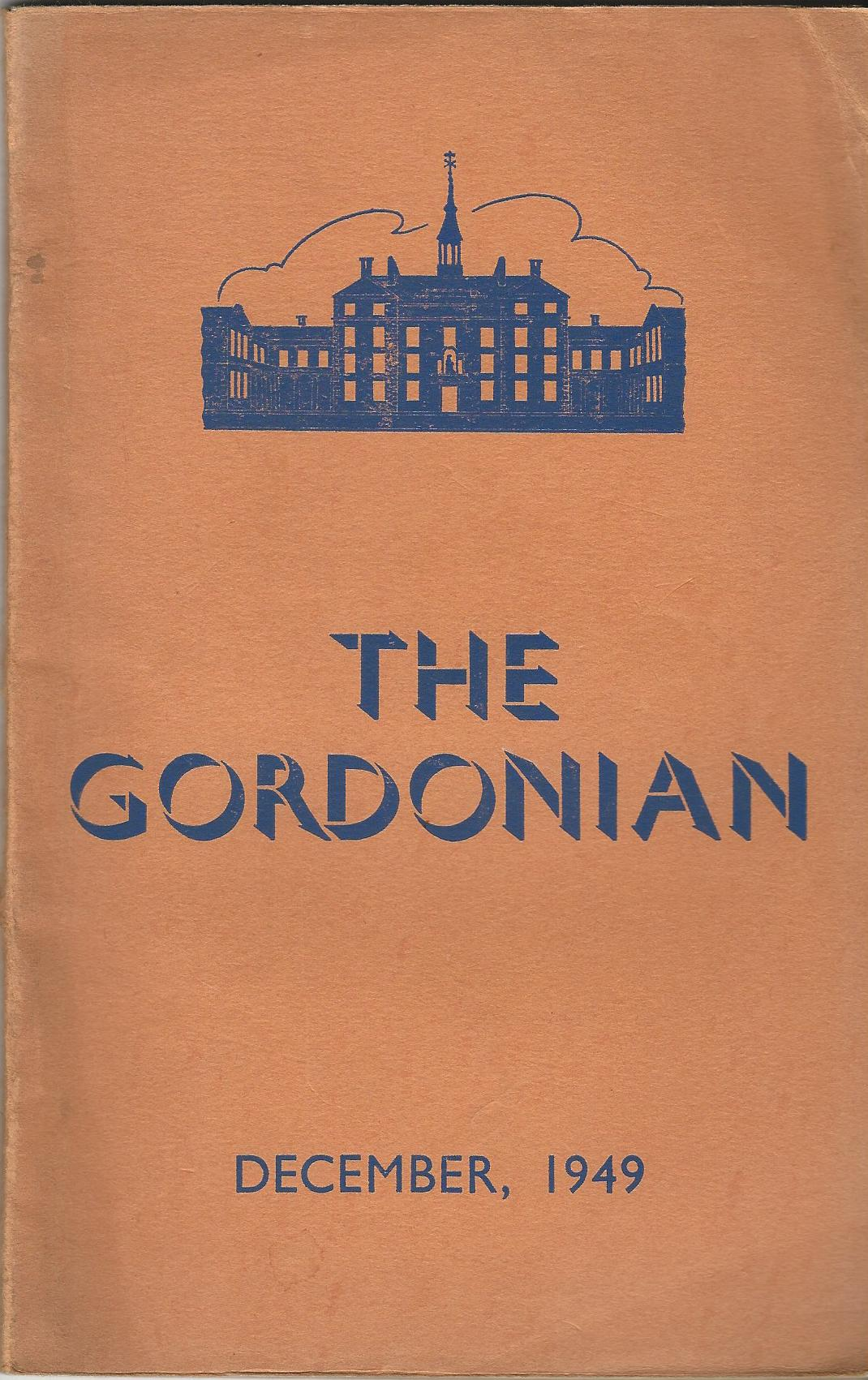 Image for The Gordonian Vol. 1, No.1 (New Series), December 1949.