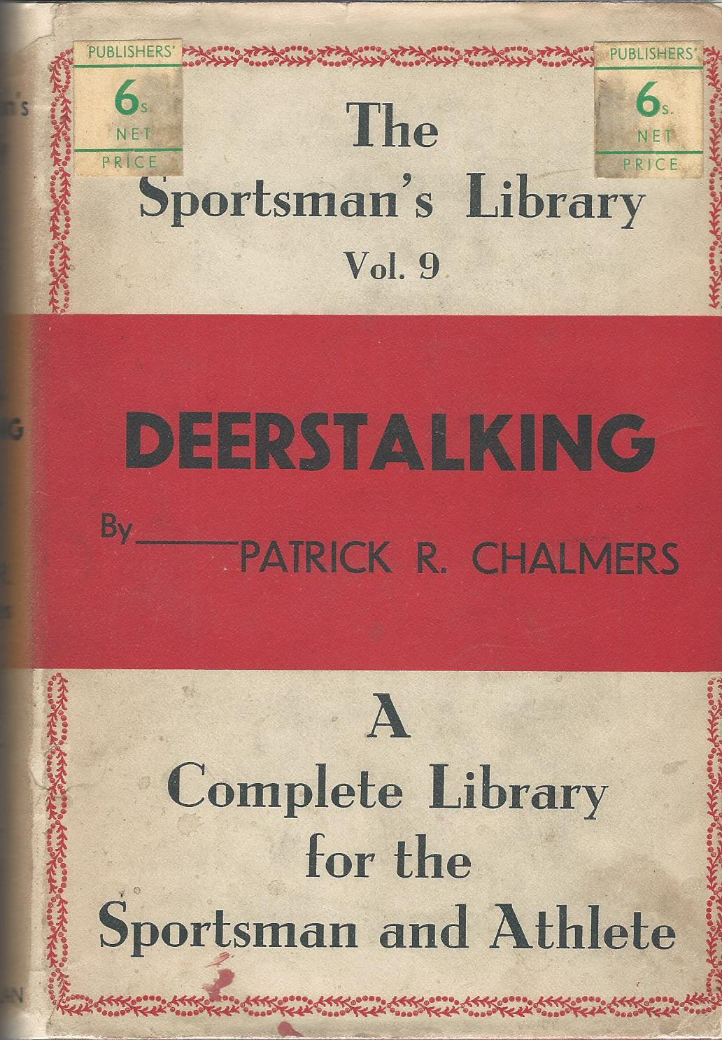 Image for Deerstalking: The Sportsman's Library Vol. 9.