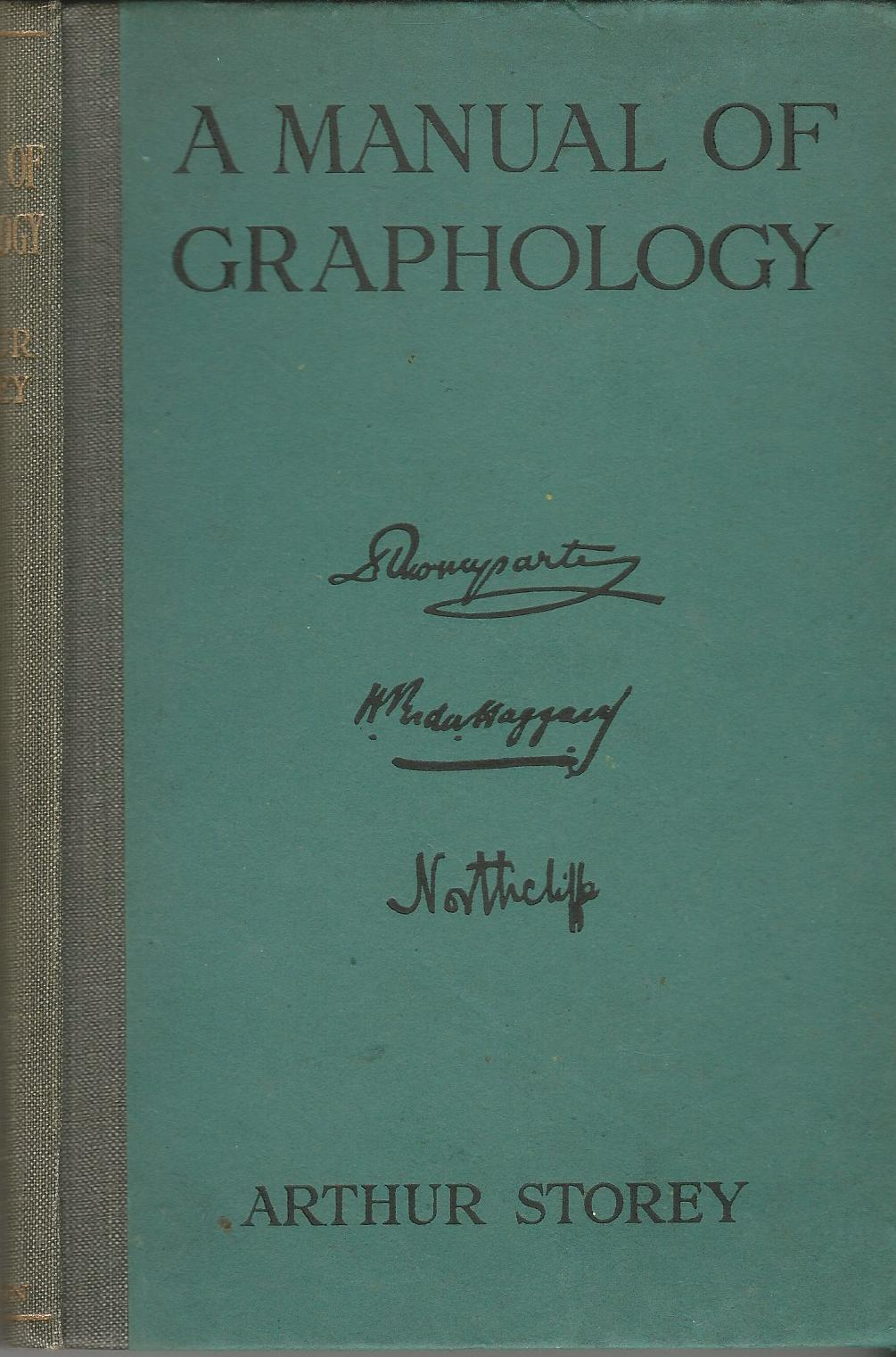 Image for A Manual of Graphology.