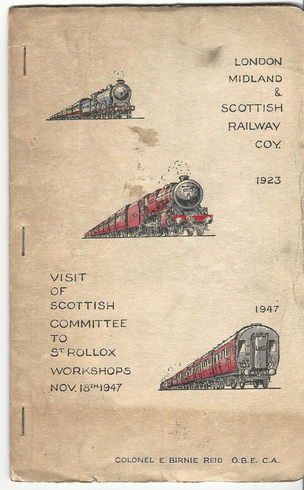 Image for Visit Of Scottish Committee To St Rollox Workshops Nov 18th 1947