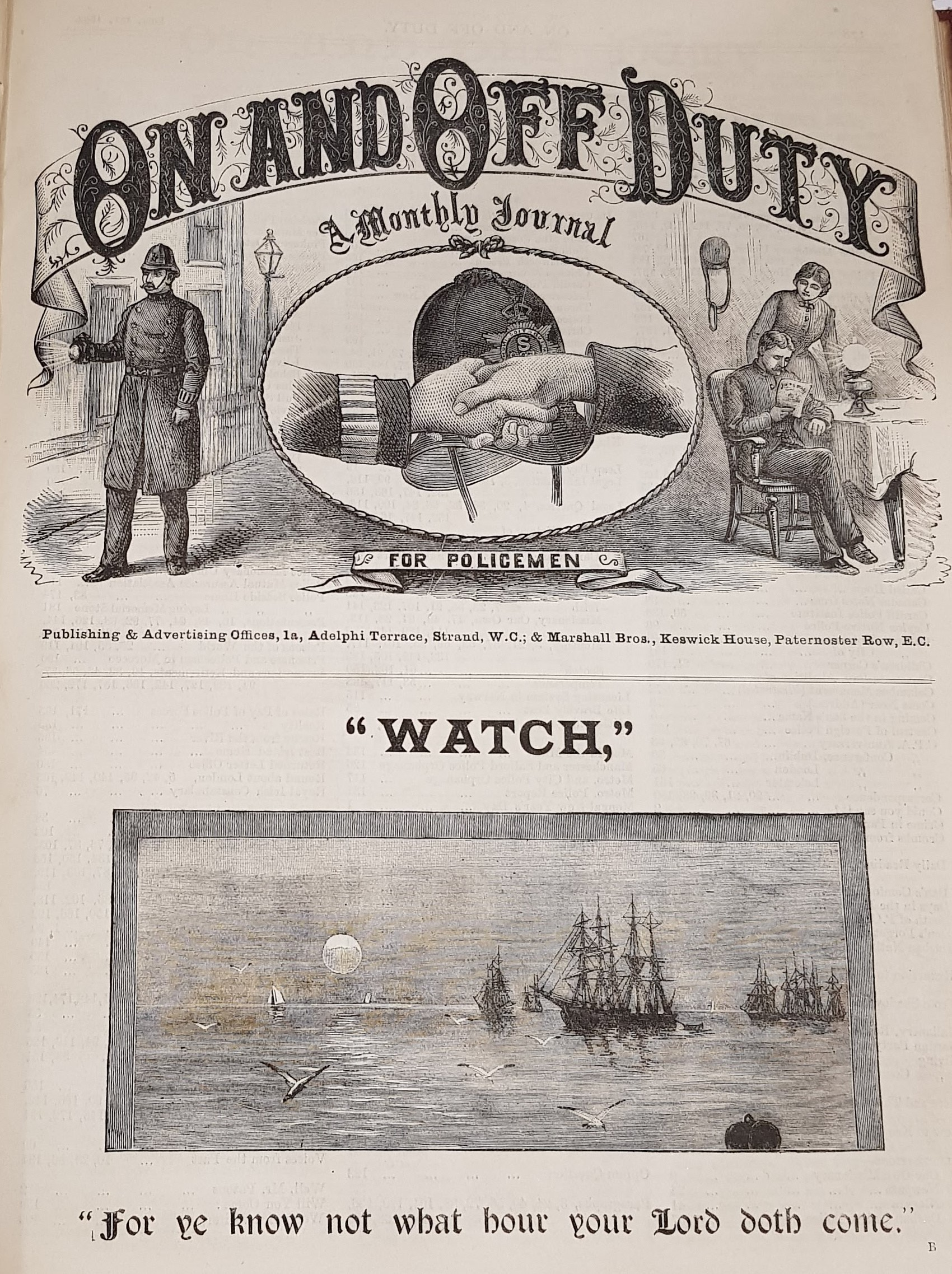 Image for On and Off Duty: A Monthly Journal for Policemen, 1891 & 1892 Complete.