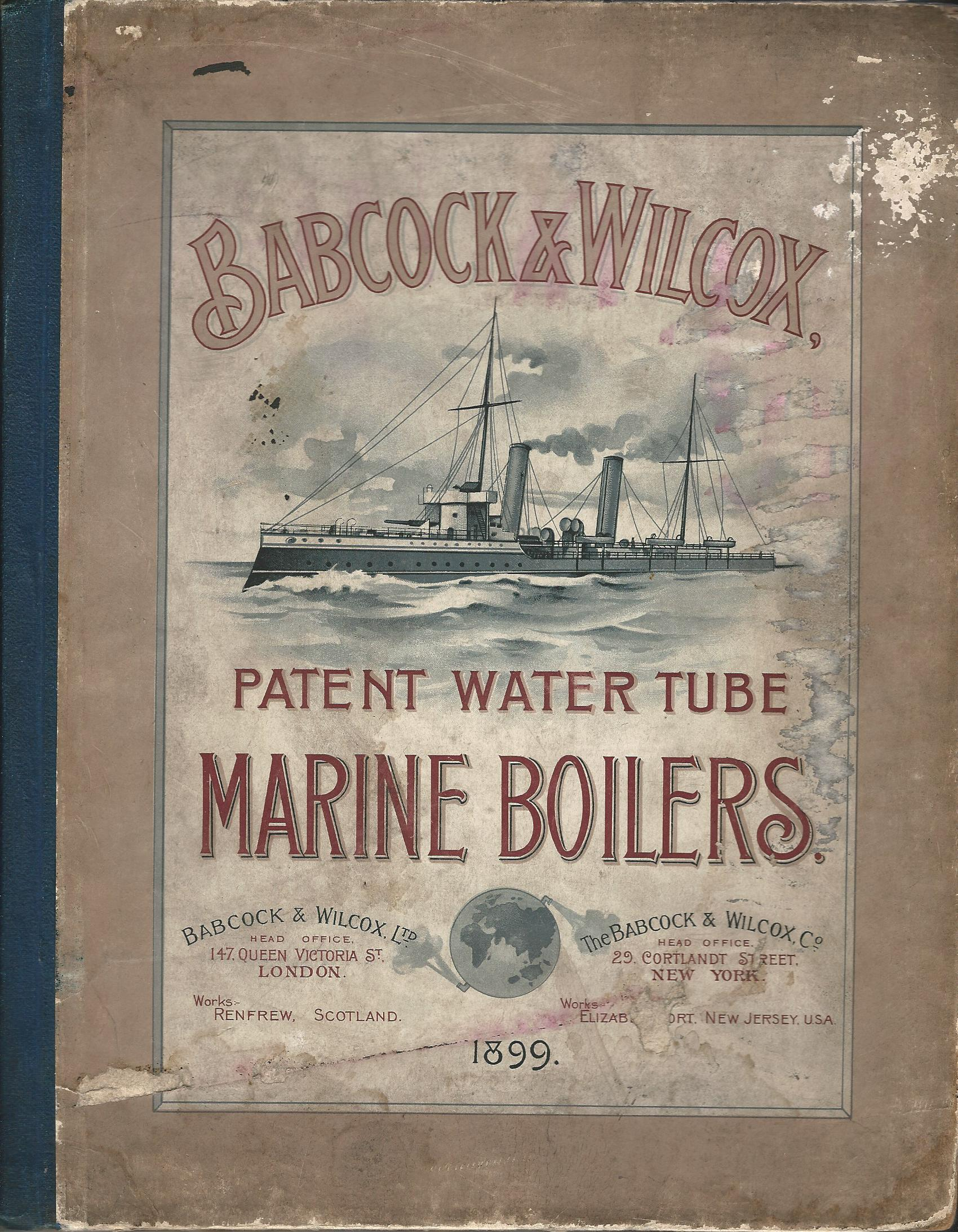 Image for Babcock & Wilcox Patent Water Tube Marine Boilers.