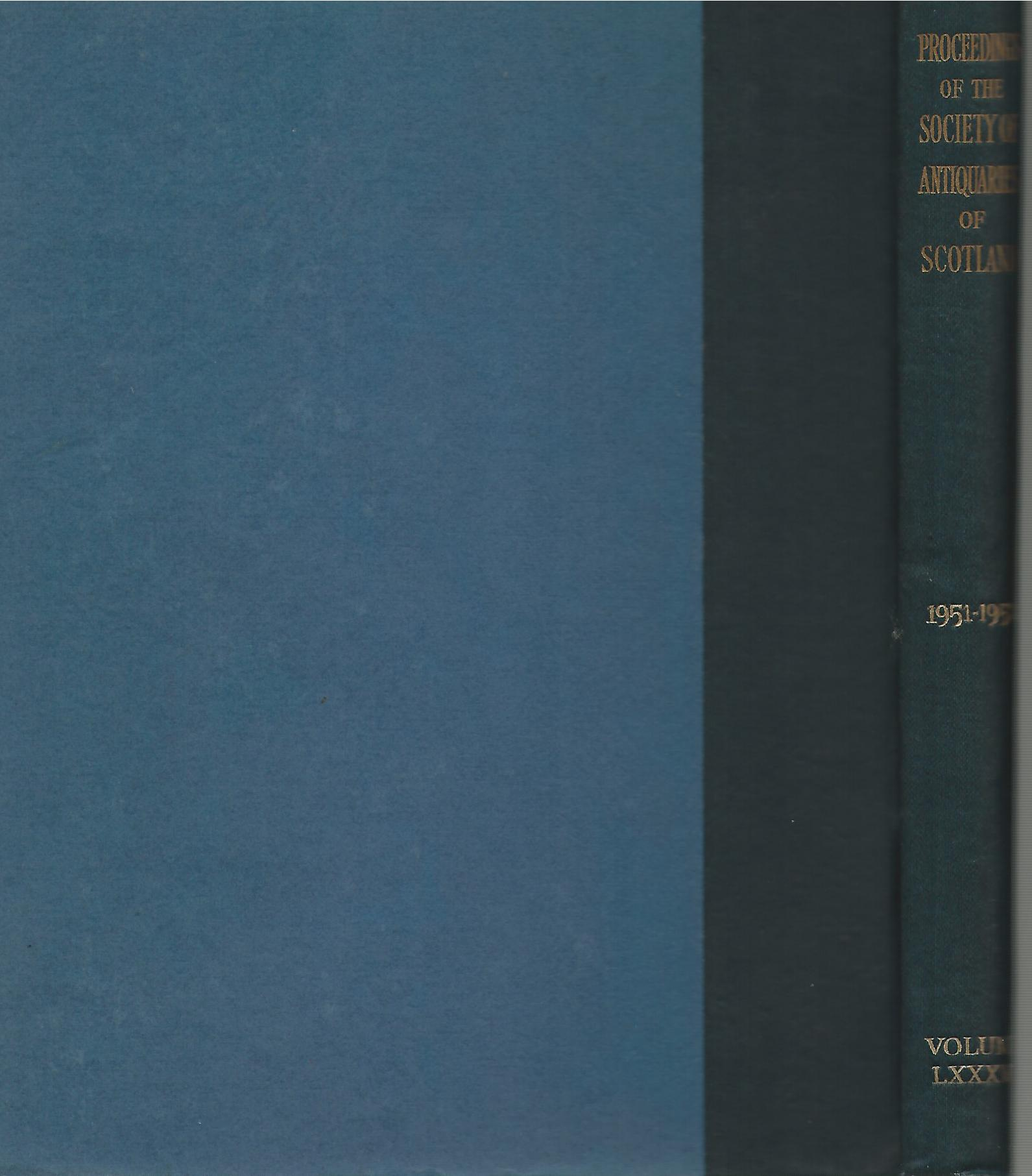 Image for Proceedings of The Society of Antiquaries of Scotland Volume LXXXVI 1951-1952