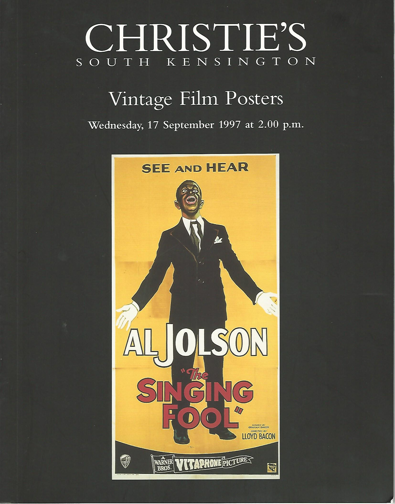 Image for Christie's Vintage Film Posters, Wednesday 17 September 1997.