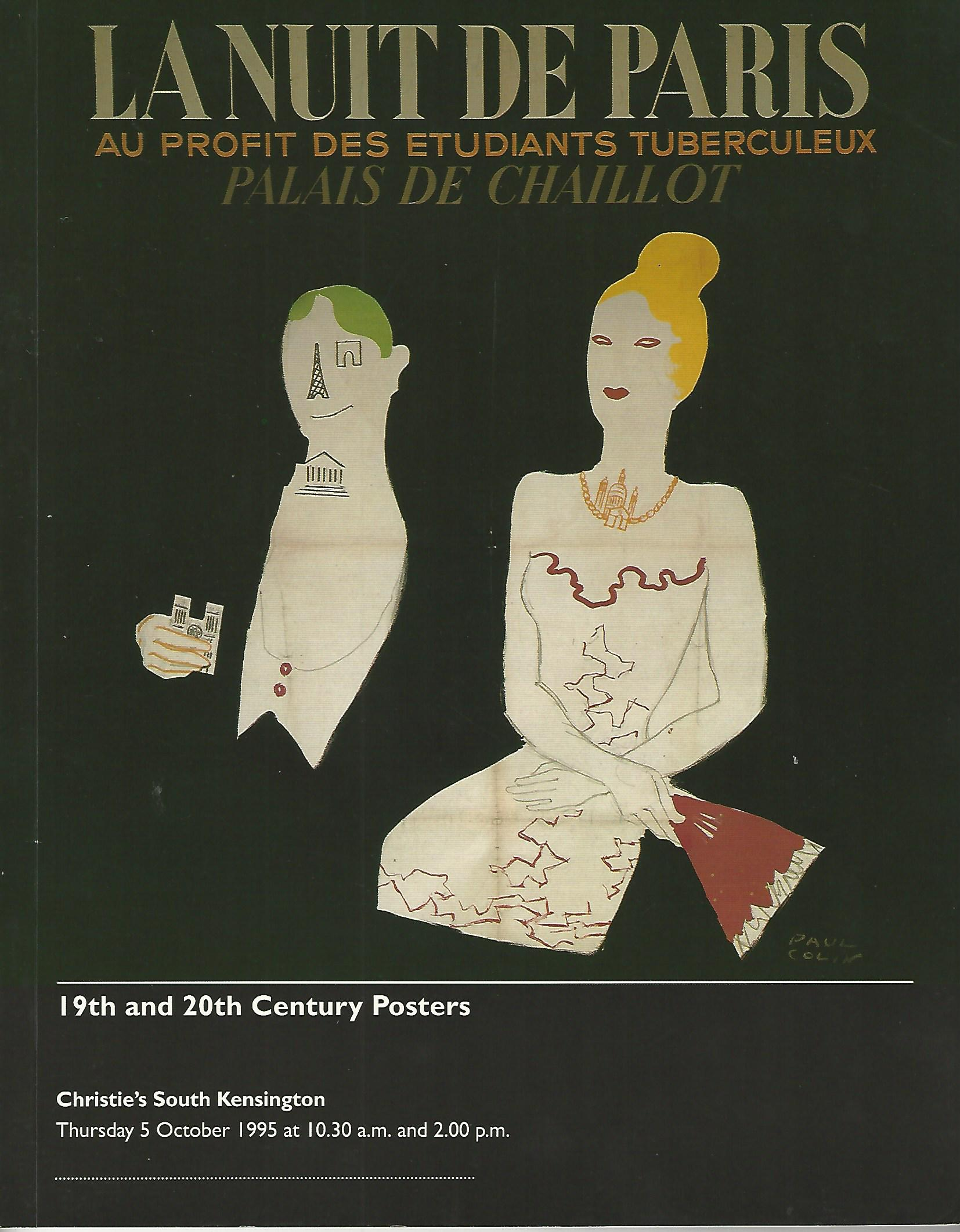 Image for Christie's South Kensington La Nuit de Paris 19th and 20th Century Posters, Thursday 5 October 1995.