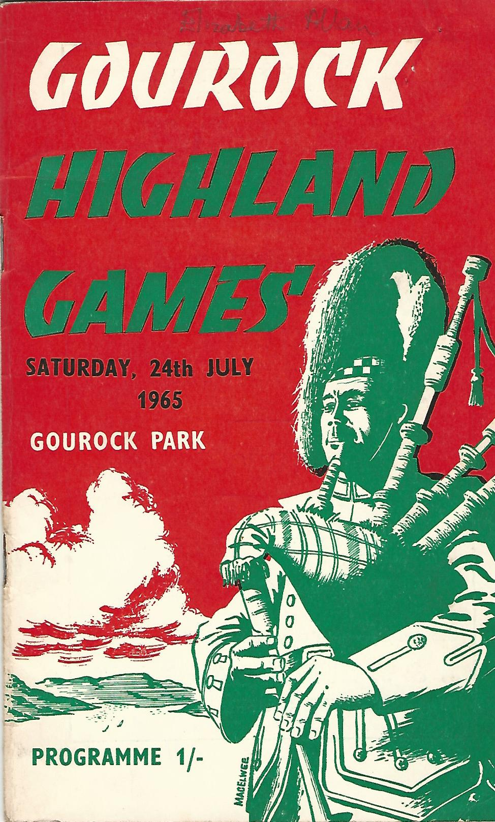 Image for Gourock Highland Games Saturday, 24th July 1965.