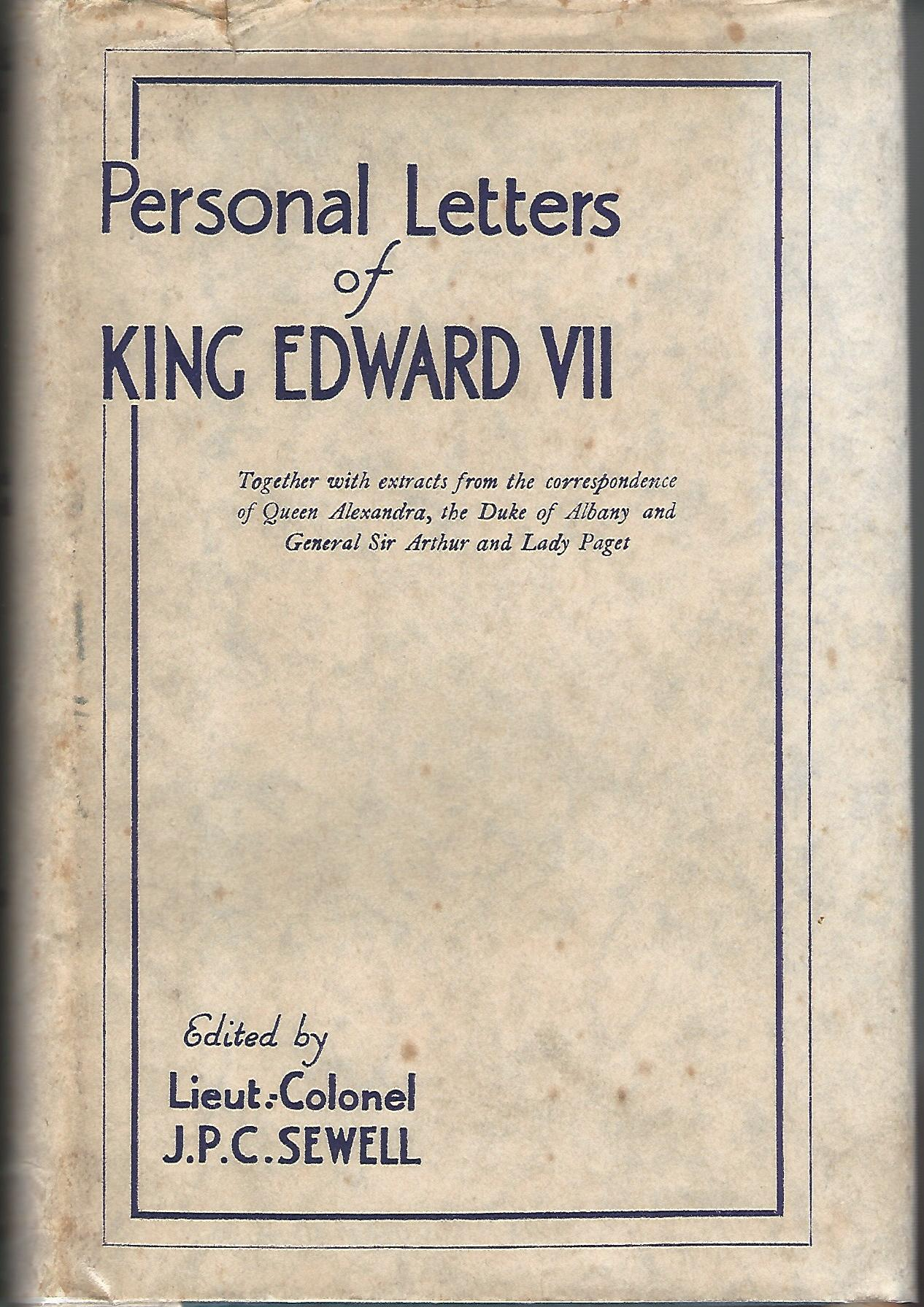 Image for Personal Letters of King Edward VII.