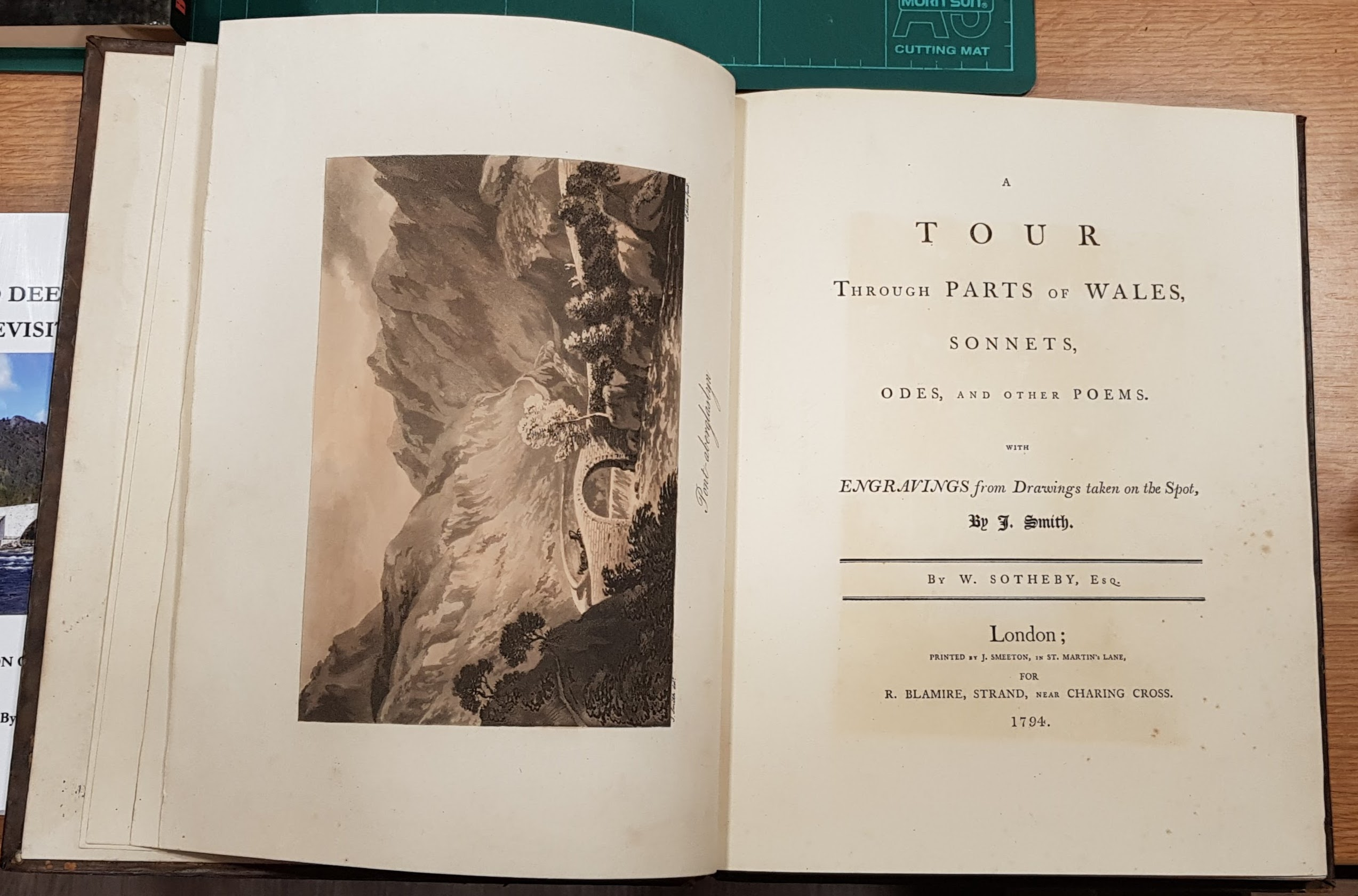 Image for A Tour Through Parts of Wales, Sonnets, Odes, and other Poems with Engravings from Drawings taken on the Spot.