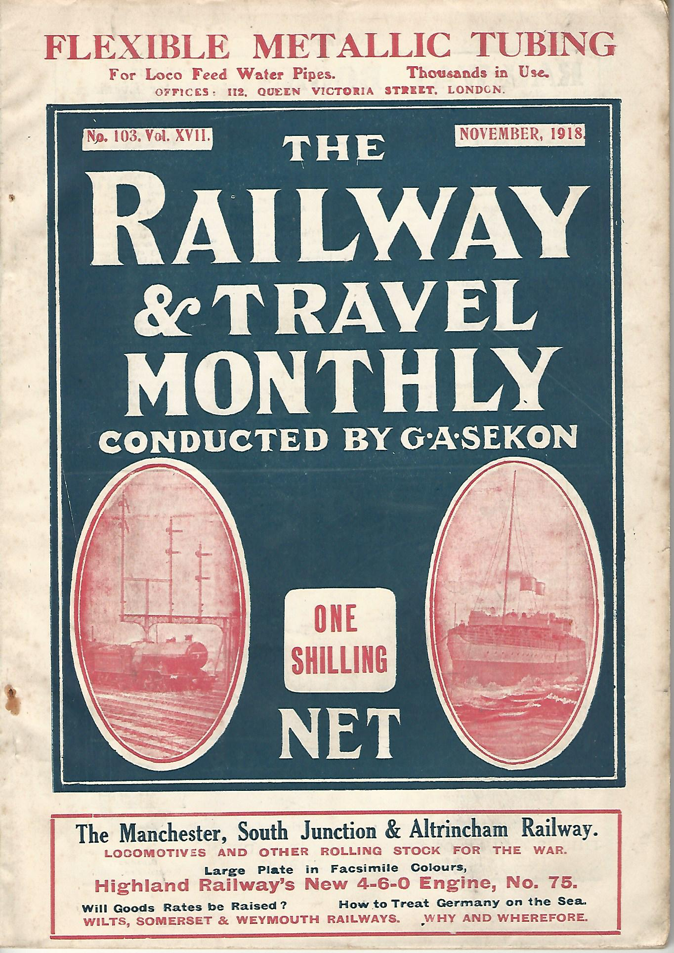 Image for The Railway and Travel Monthly Vol. XVI and XVII: 1918.
