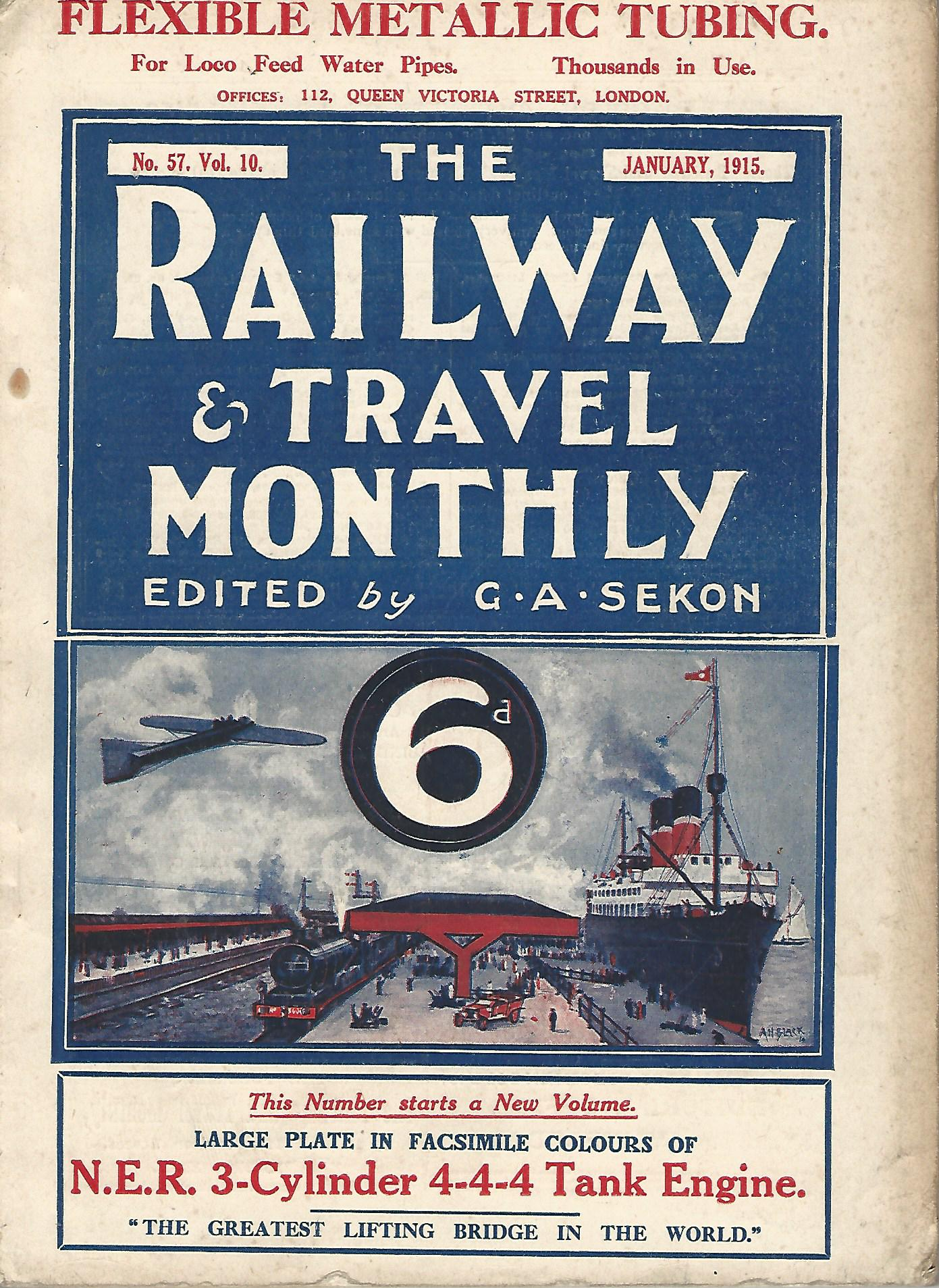Image for The Railway and Travel Monthly, Vol. X & XI, 1915.