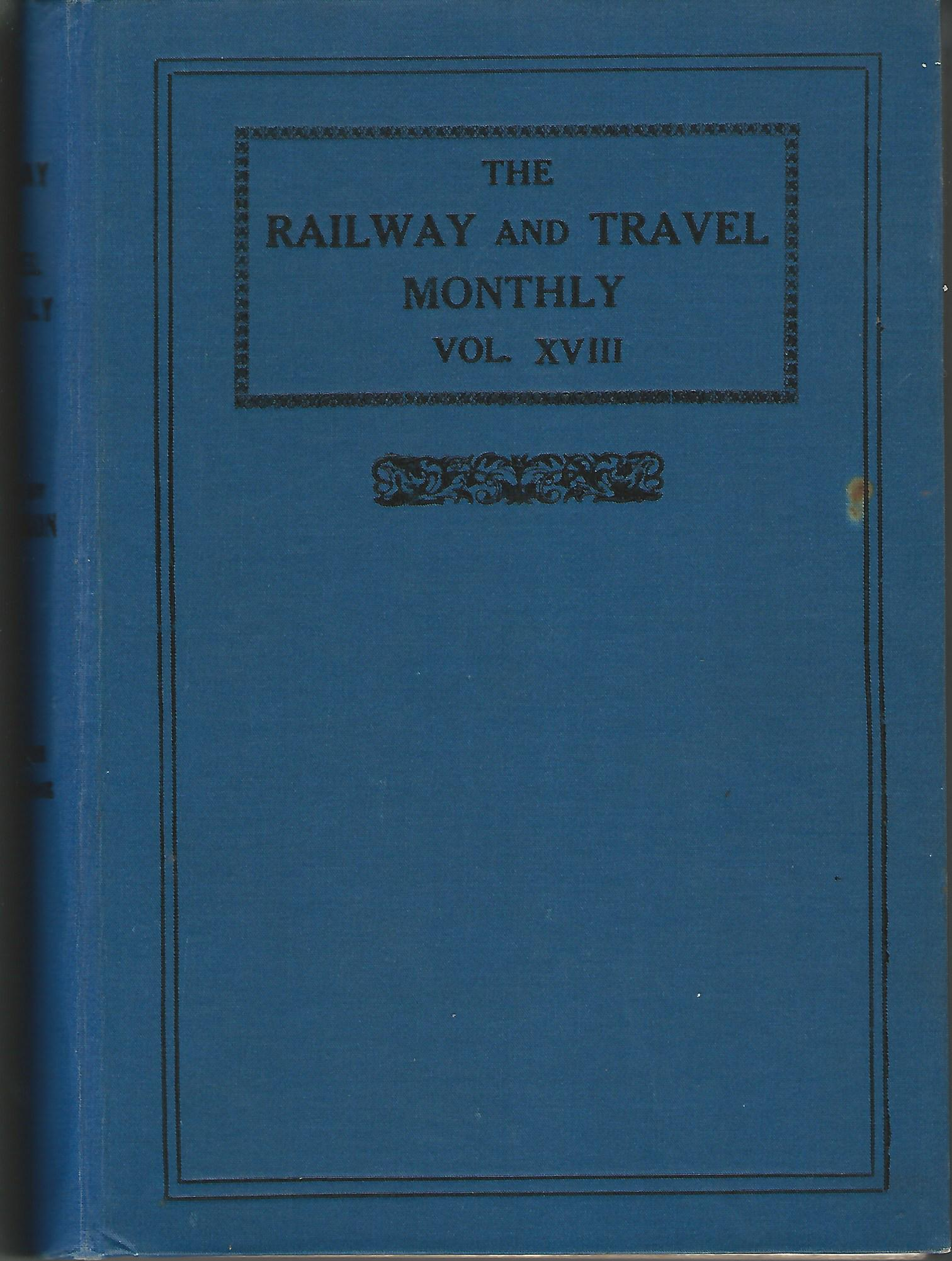 Image for The Railway Magazine One volume of six magazines, 1919.
