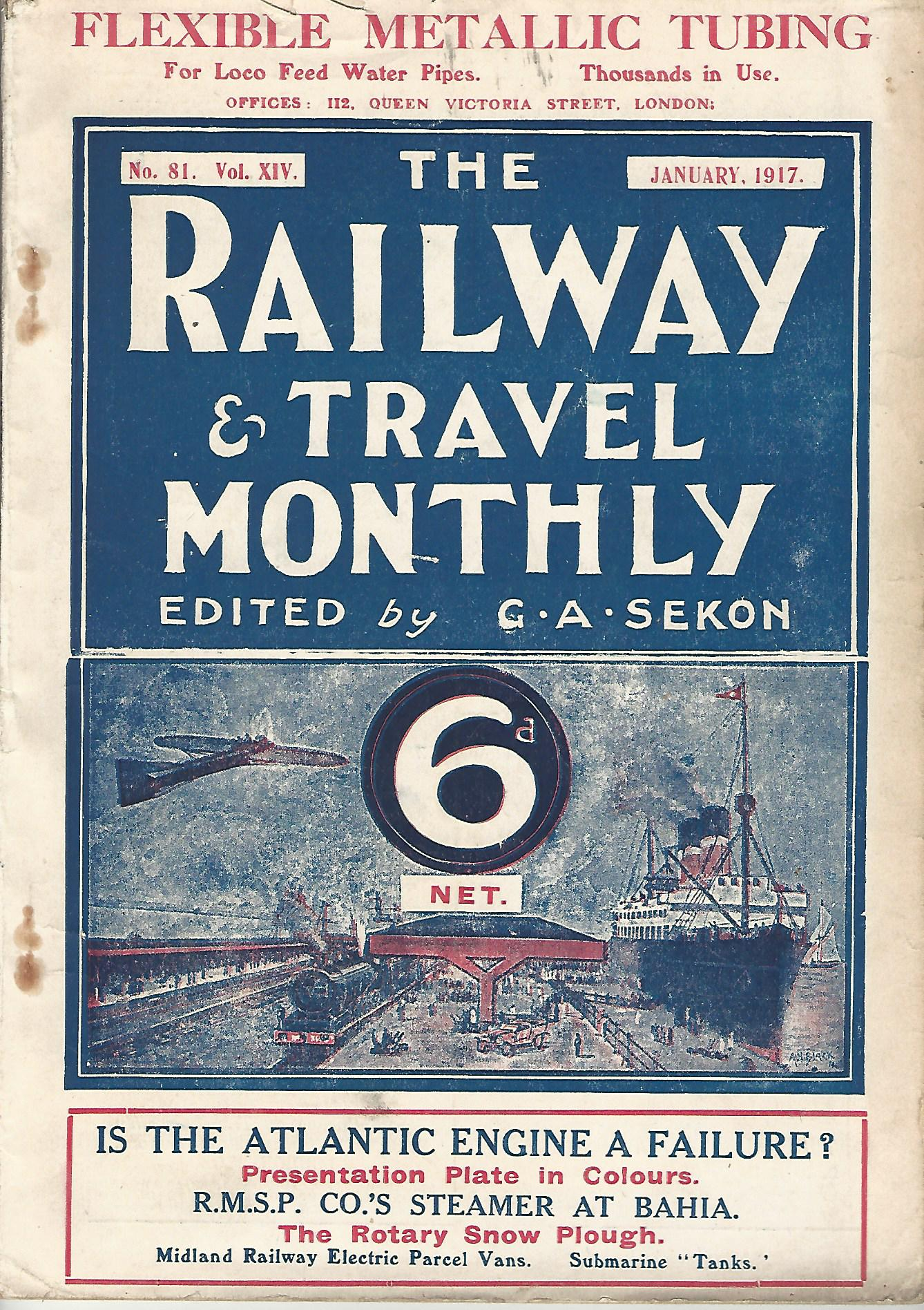 Image for The Railway Magazine: One volume of six magazines, 1917.