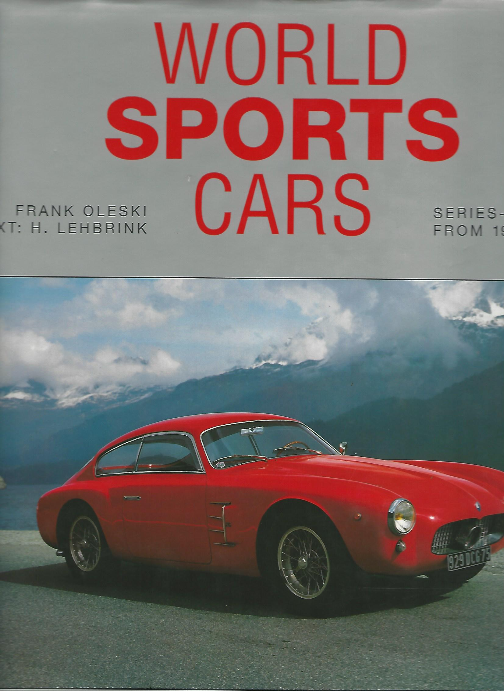 Image for World Sports Cars. Series Built from 1945 - 1980.