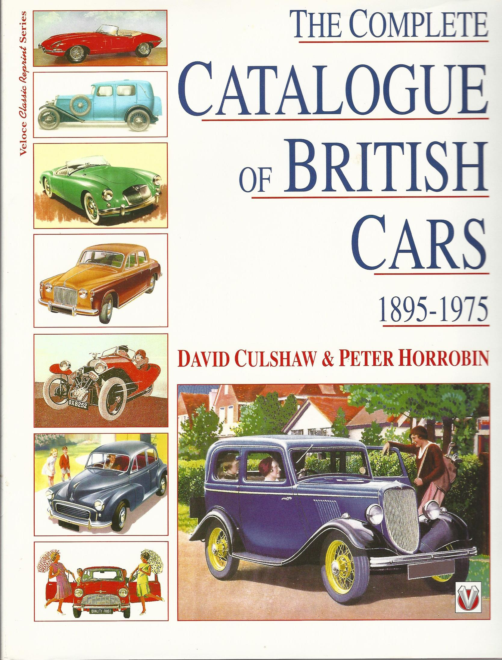 Image for Complete Catalog of British Cars, 1895-1975.