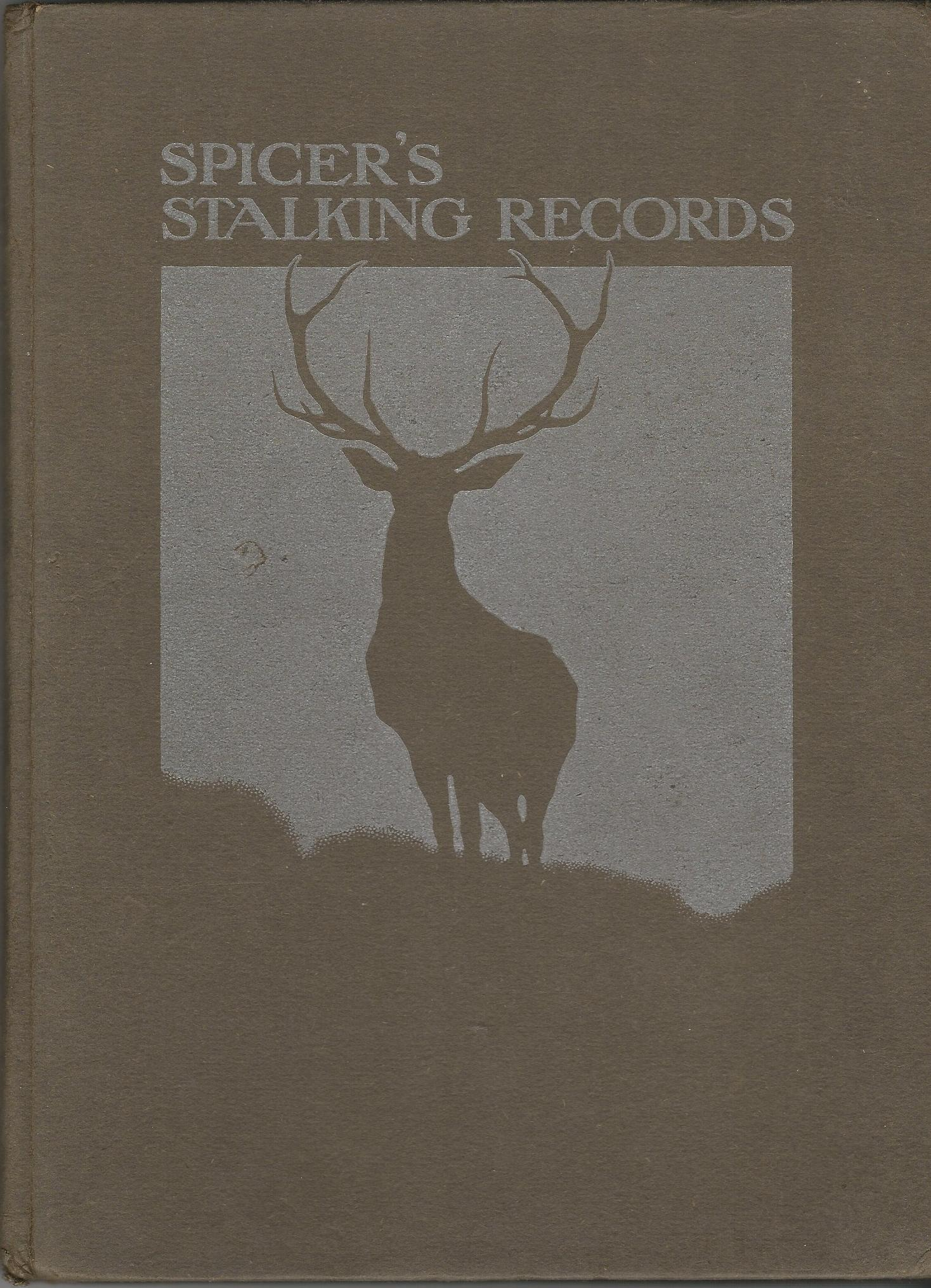 Image for Spicer's Stalking Records Season 1913: Embracing The Modelling of Red Deer Heads