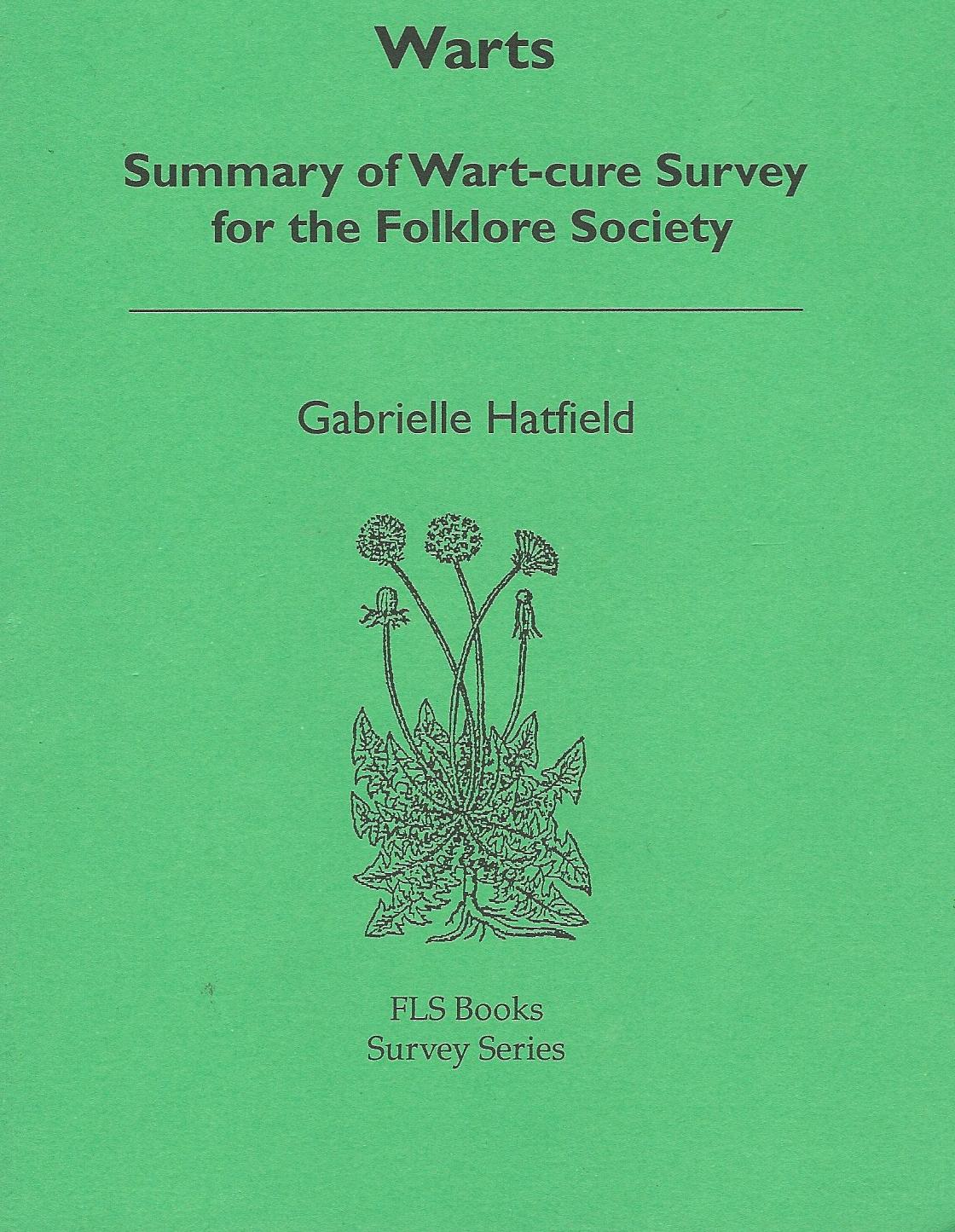 Image for Warts: Summary of Wart-cure Survey for the Folklore Society.