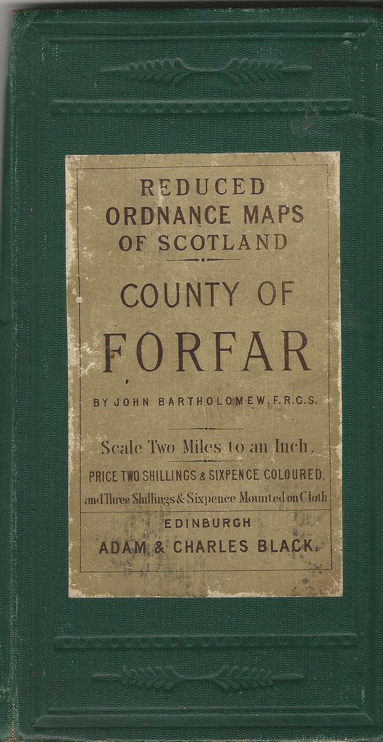 Image for Bartholomew's Reduced Ordnance Maps of Scotland: County of Forfar