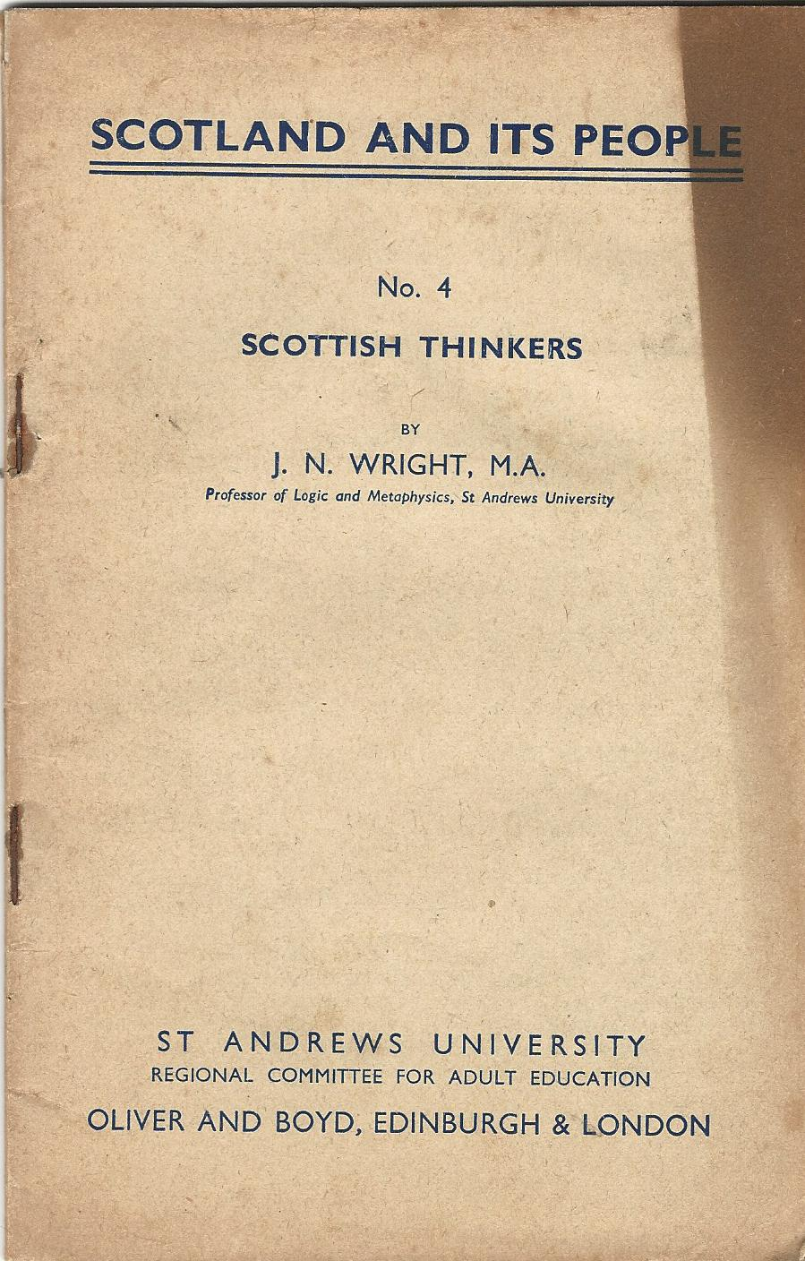 Image for Scotland and its People No. 4: Scottish Thinkers