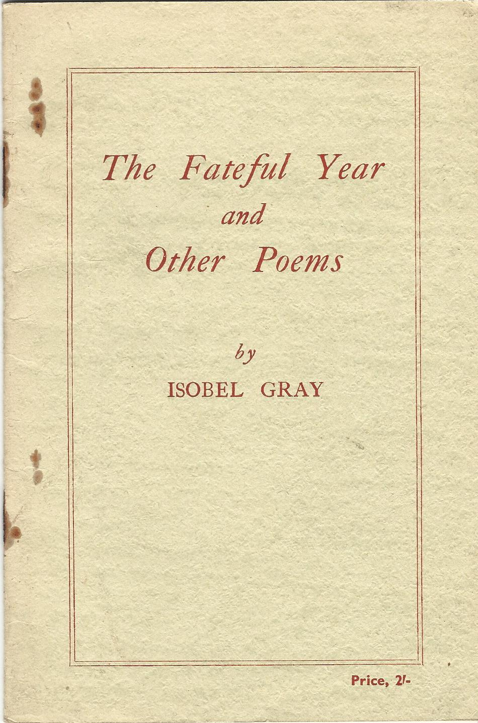 Image for The Fateful Year and Other Poems