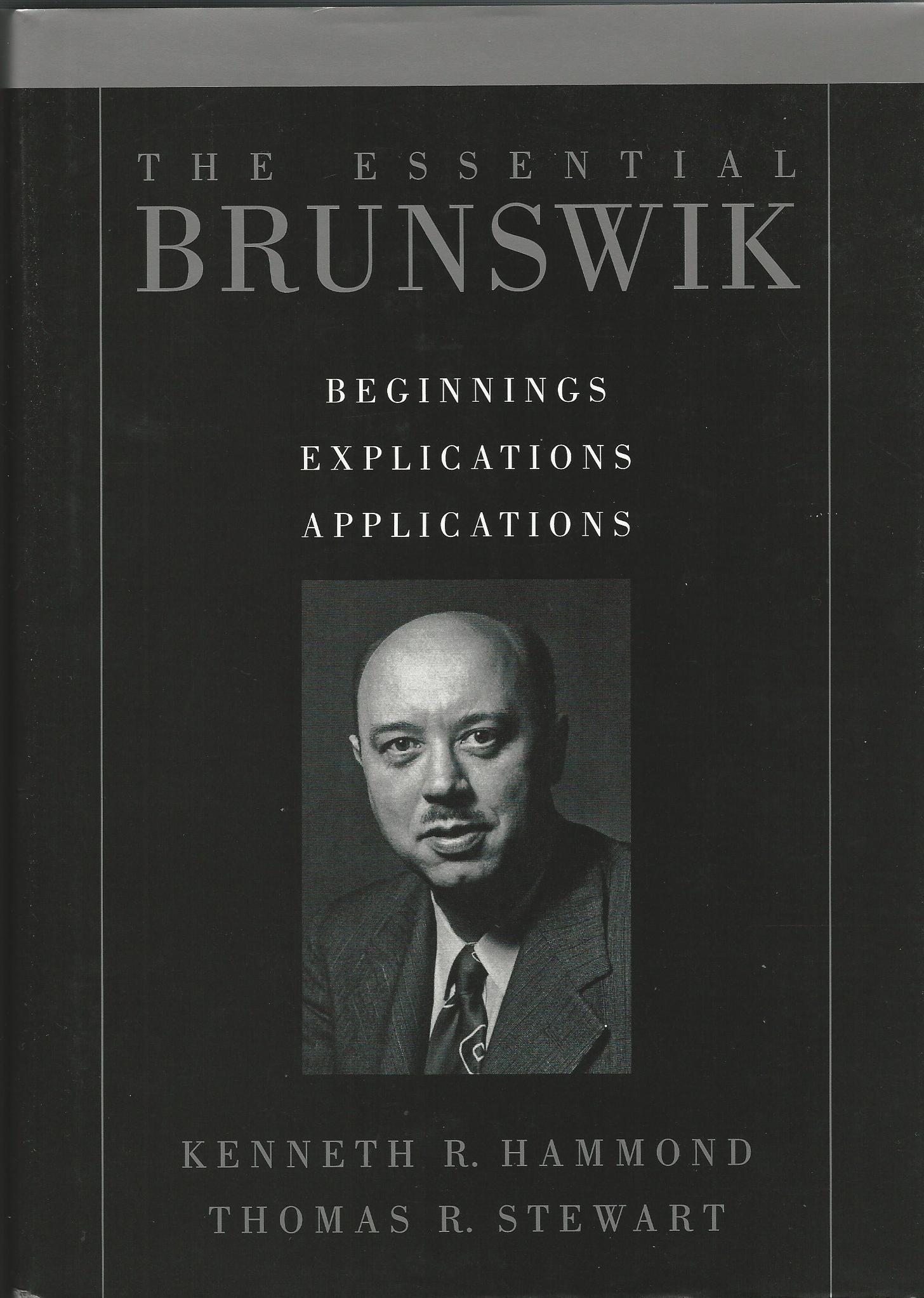 Image for The Essential Brunswik: Beginnings, Explications, Applications