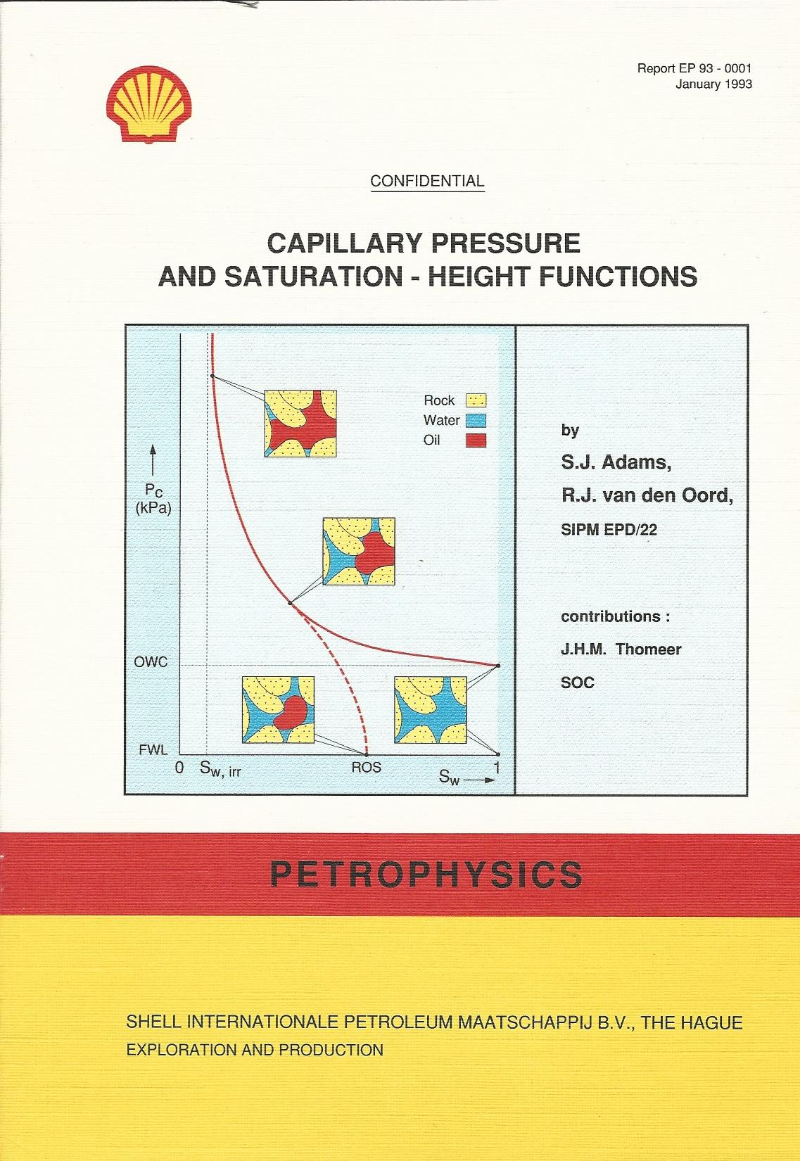 Image for Capillary Pressure and Saturation - Height Functions - Petrophysics.