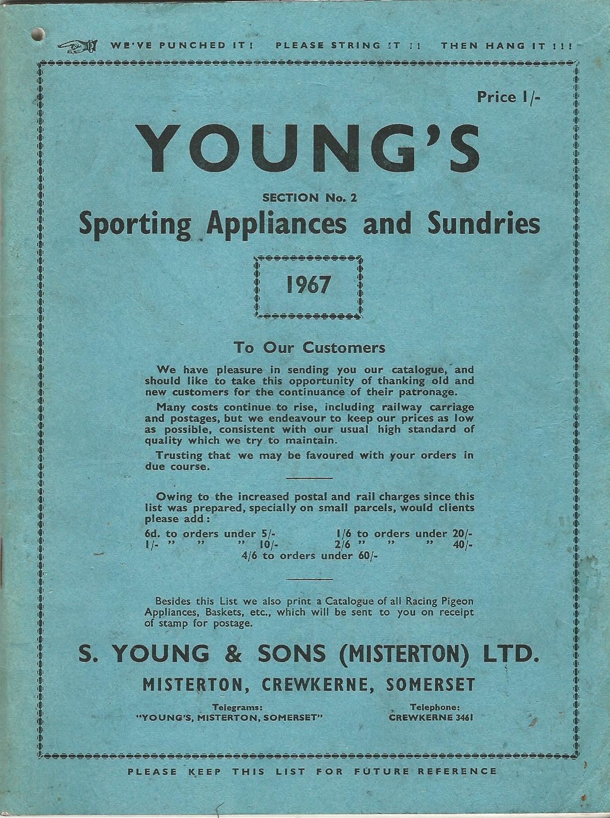 Image for Young's Sporting Appliances and Sundries 1967, Section No.2.