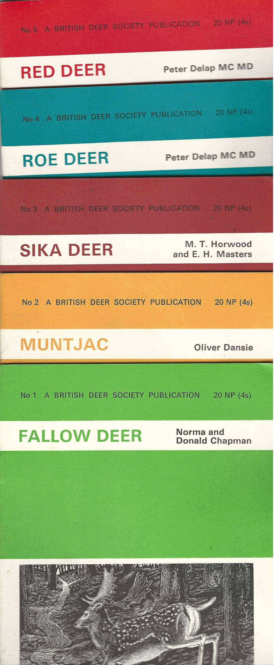 Image for British Deer Society: Fallow, Muntjac, Sika, Roe Red.5 Volumes.