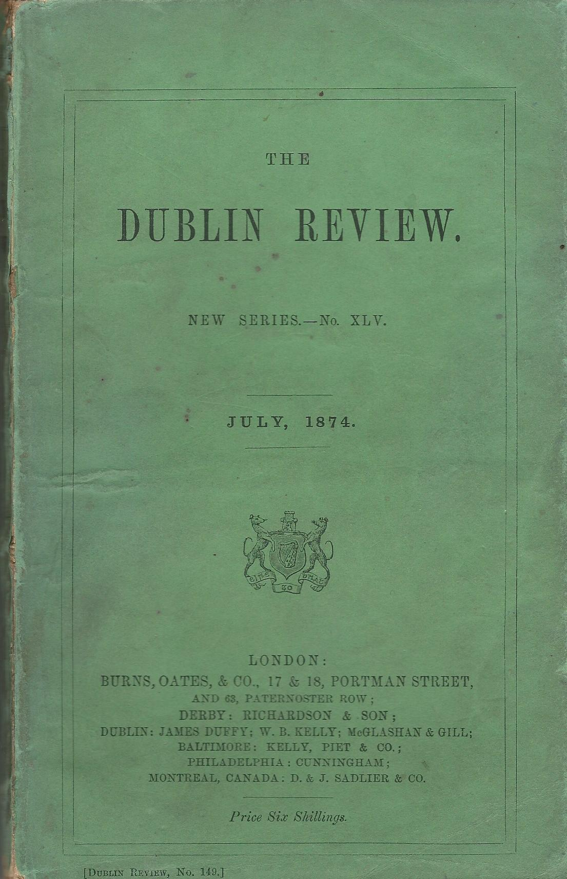 Image for The Dublin Review: July, 1874, No. XLV