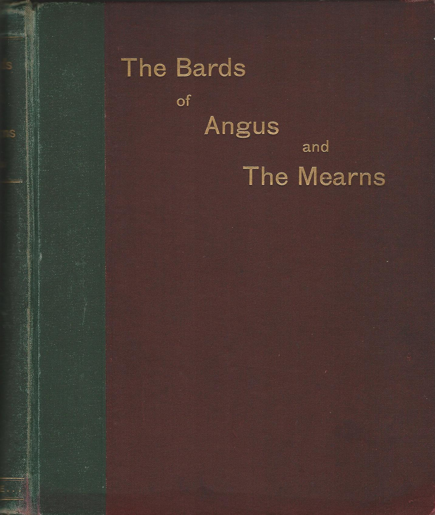 Image for The Bards of Angus and the Mearns: An Anthology of the Counties.