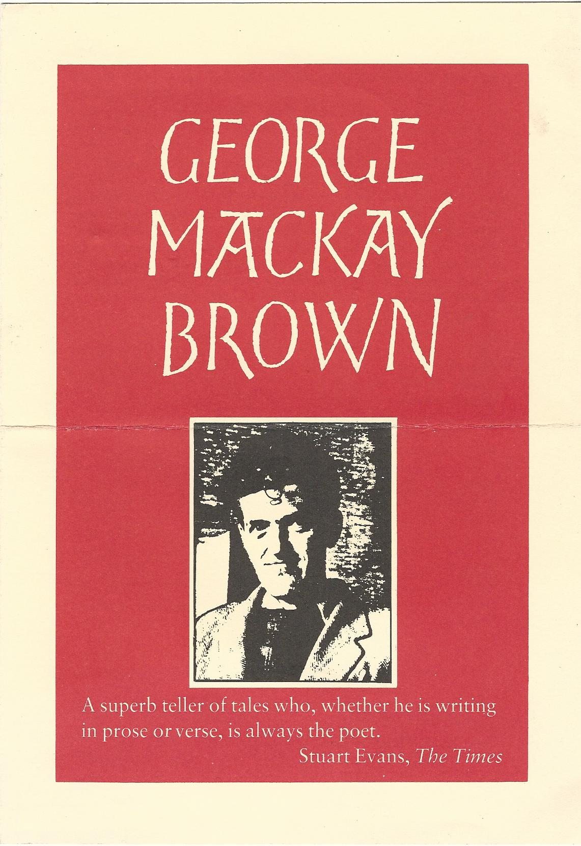 Image for George Mackay Brown.
