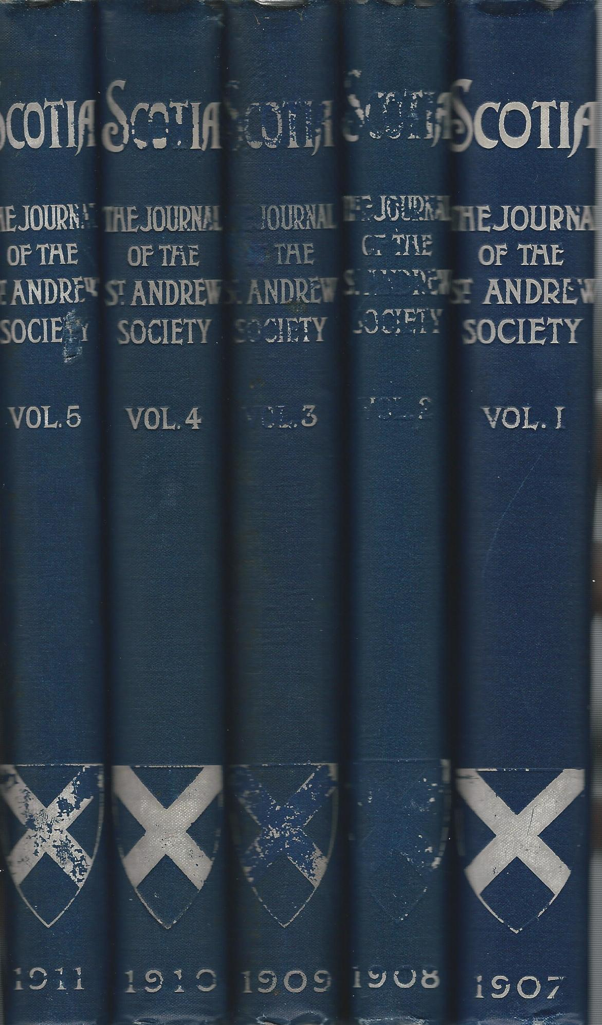 Image for Scotia: The Journal of the St. Andrew Society Vols. 1-5