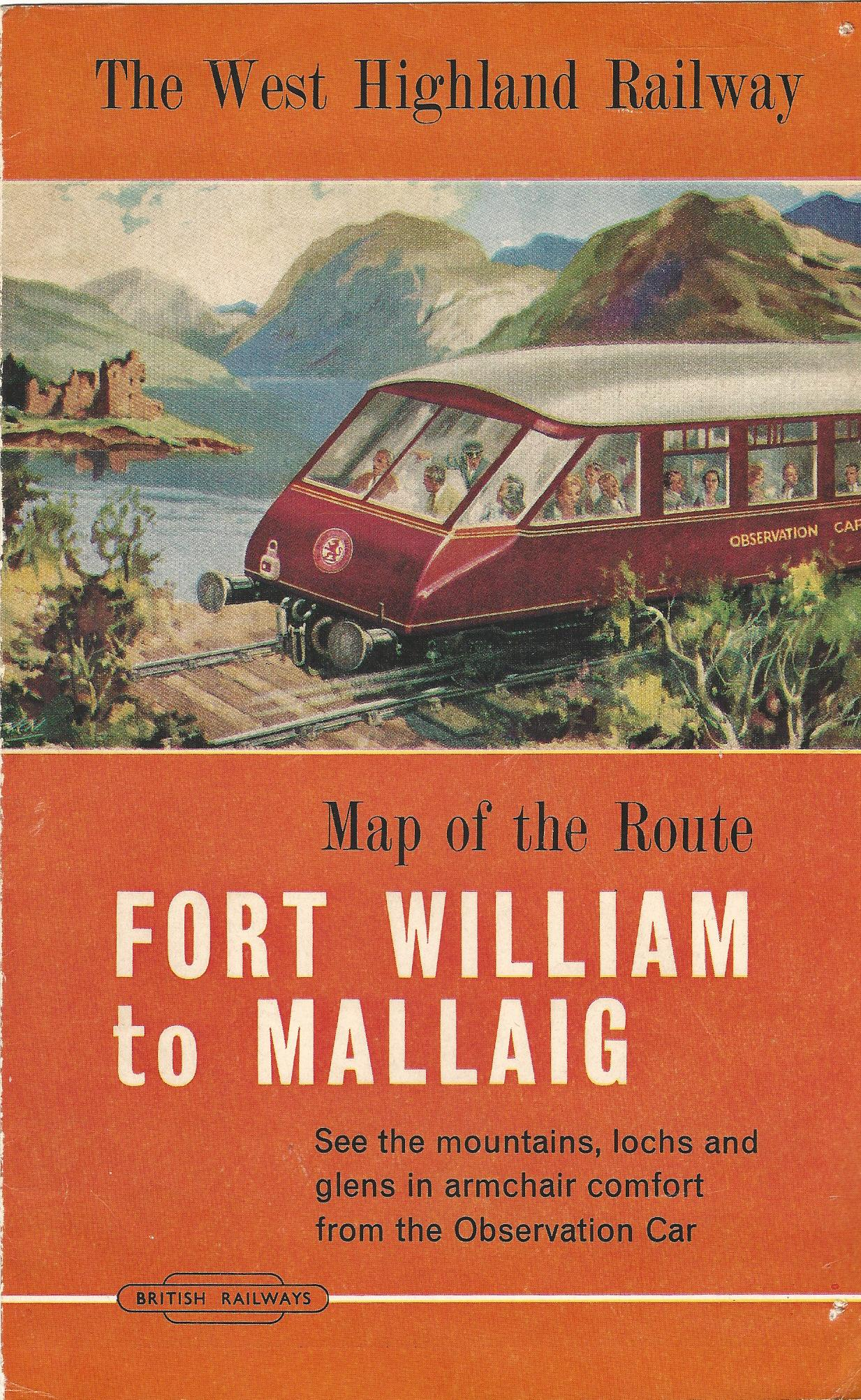 Image for The West Highland Railway: Map of the Route, Fort William to Mallaig