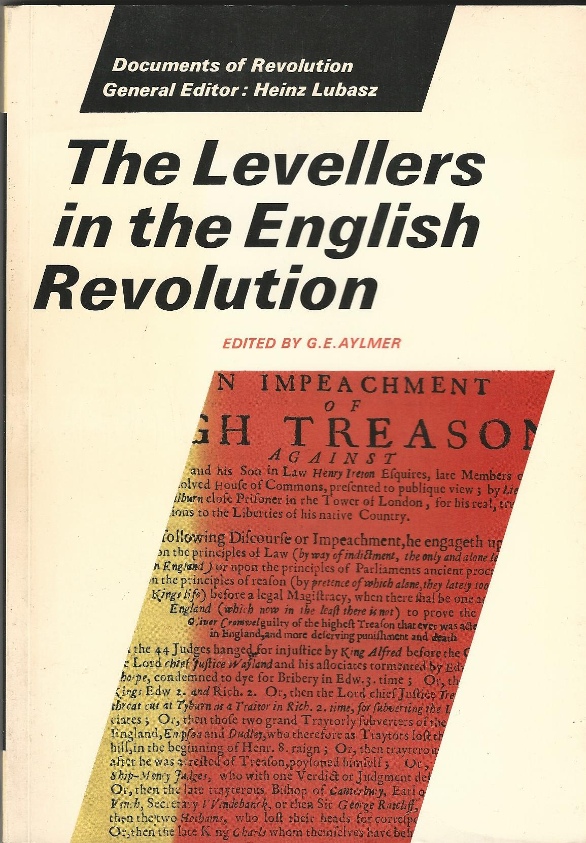 Image for The Levellers in the English Revolution (Documents of Revolution Ser)