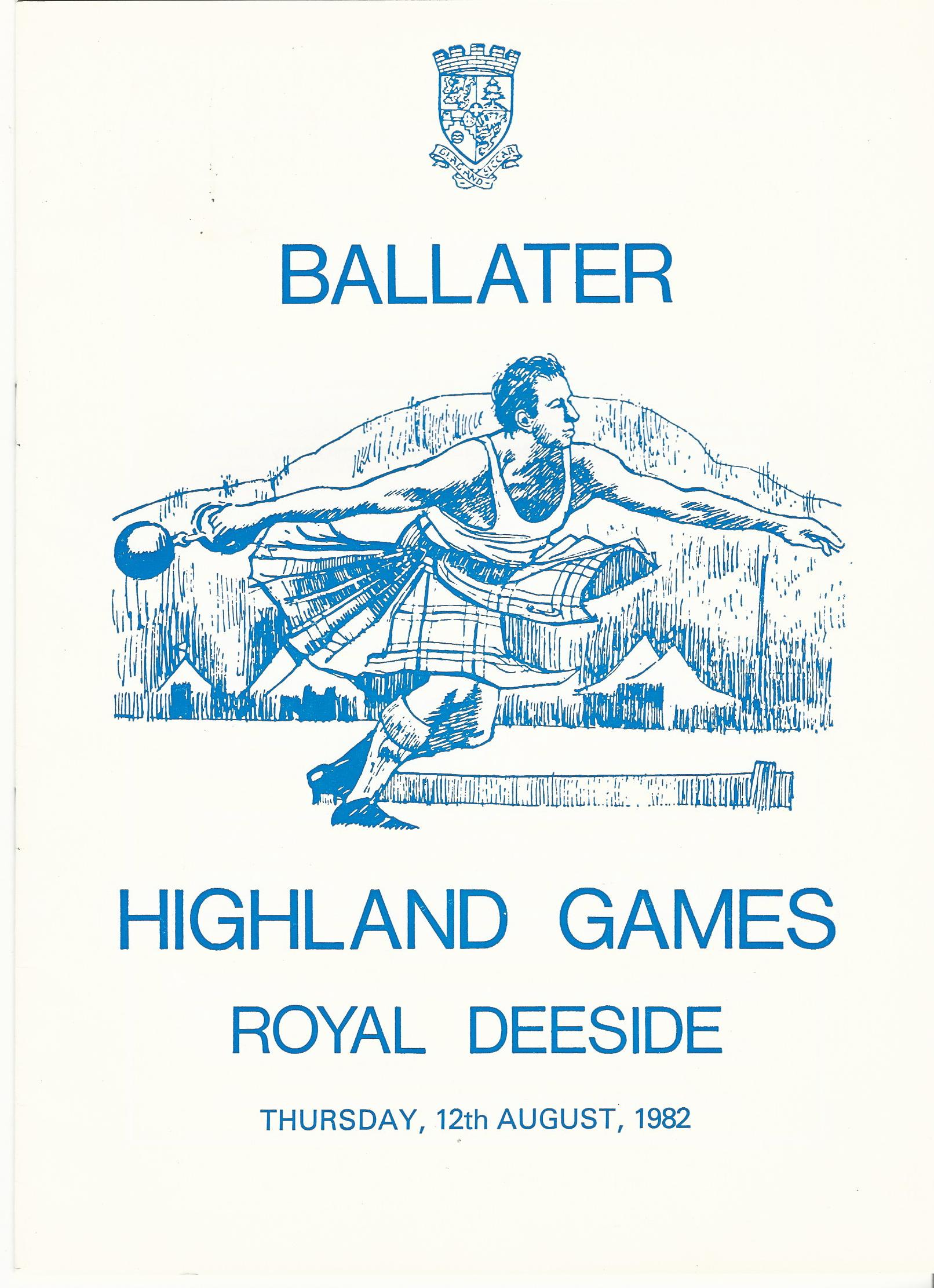Image for Ballater Highland Games, Thursday, 12th August, 1982.