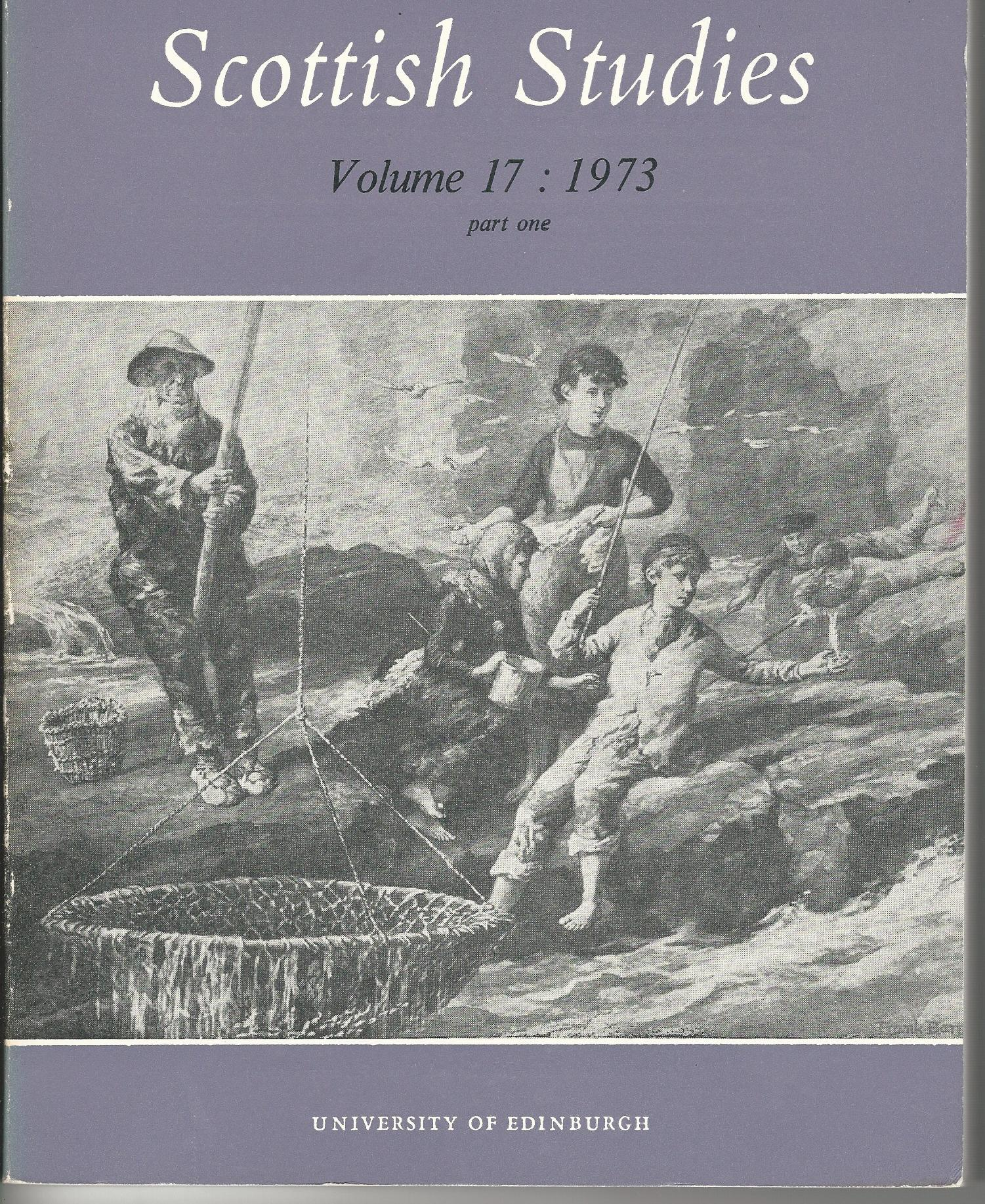 Image for Scottish Studies Vol. 17 Part One 1973.