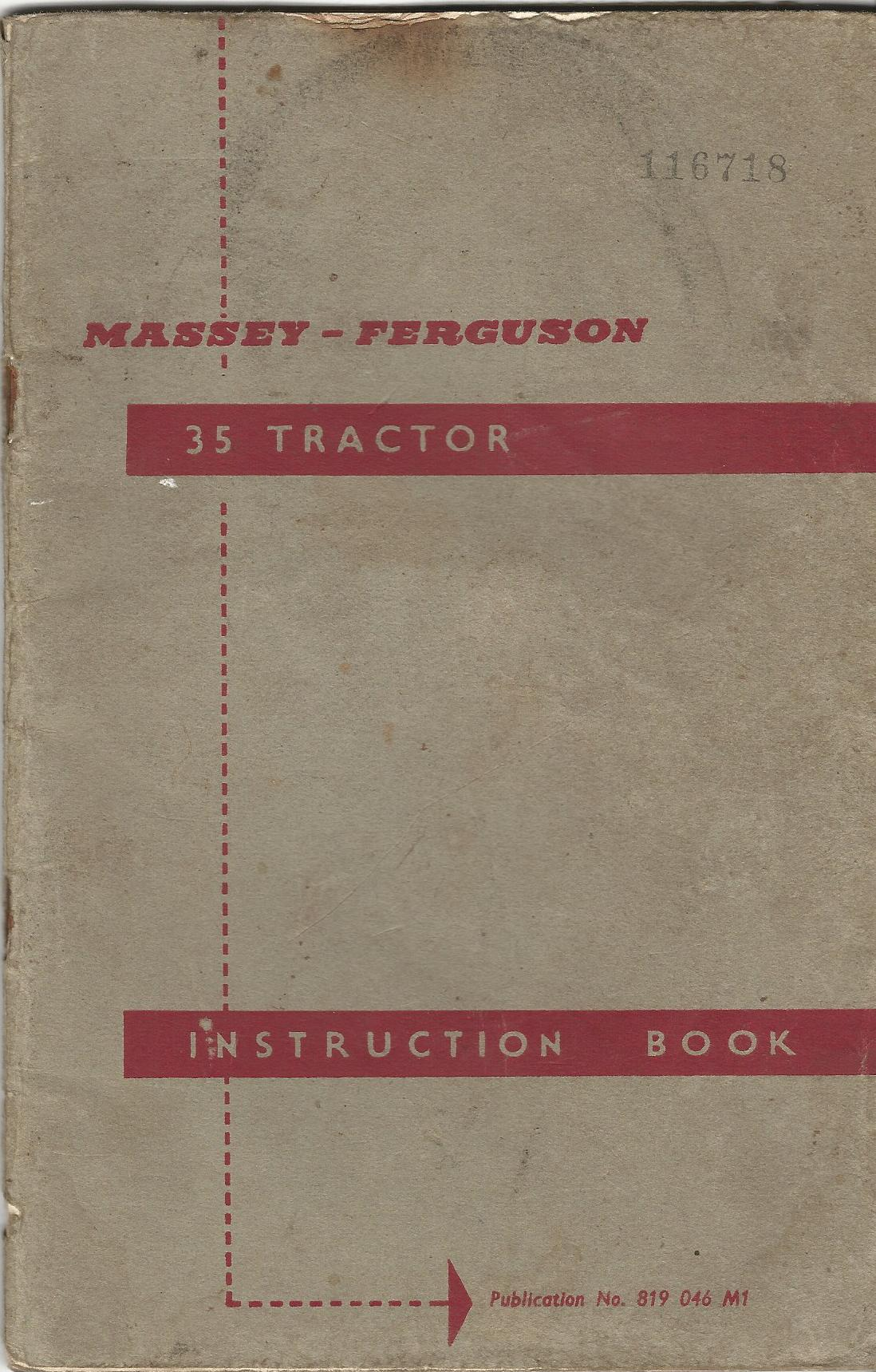 Image for Massey-Ferguson 35 Tractor Instruction Book