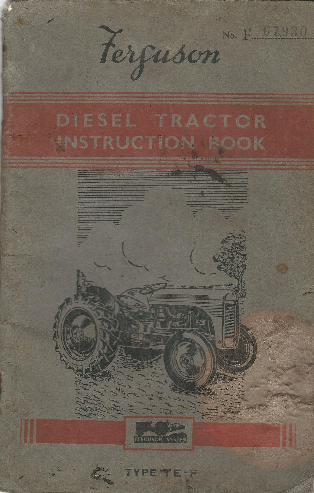 Image for Ferguson Diesel Tractor Instruction Book - Type TE-F
