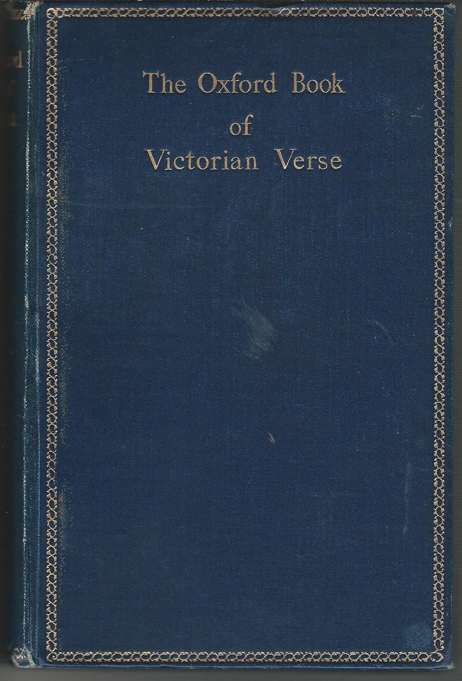 Image for The Oxford Book of Victorian Verse.