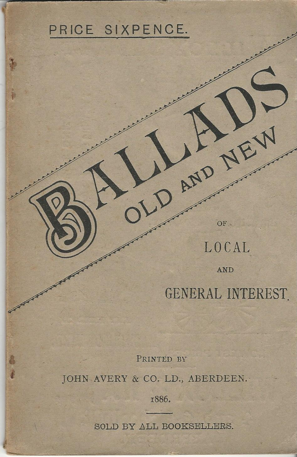 Image for Ballads Old and New of Local and General Interest.