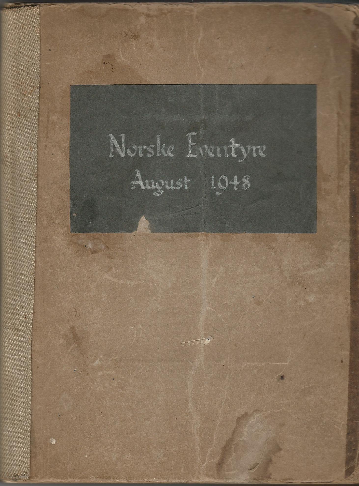 Image for Norske Eventyre August 1948 - Handwritten Detailling the Aberdeen -  Bergen Teachers Exchange